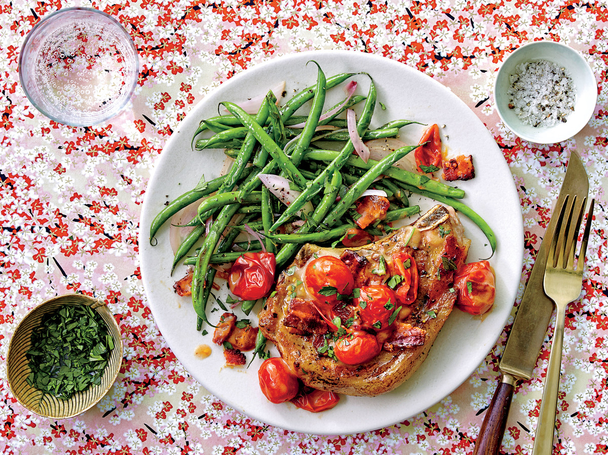 Pork Chops With Tomato Bacon Gravy Recipe Southern Living