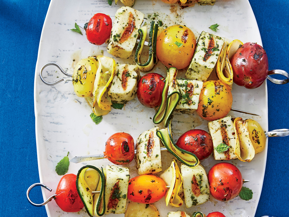 Halloumi-and-Summer Vegetable Kebabs