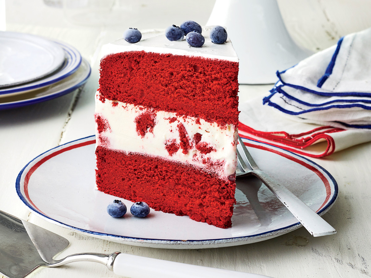Red Velvet Ice-Cream Cake
