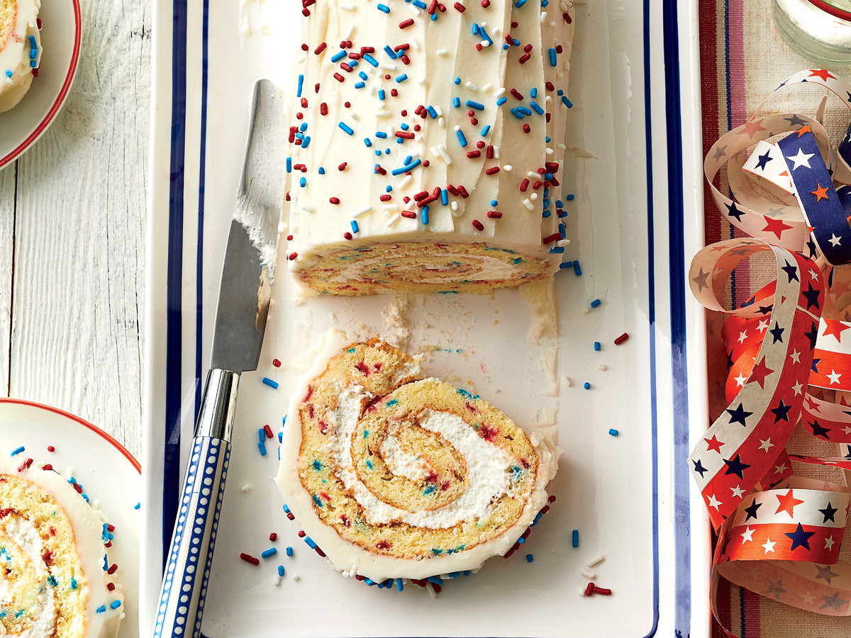 Fourth of July Confetti Roulade