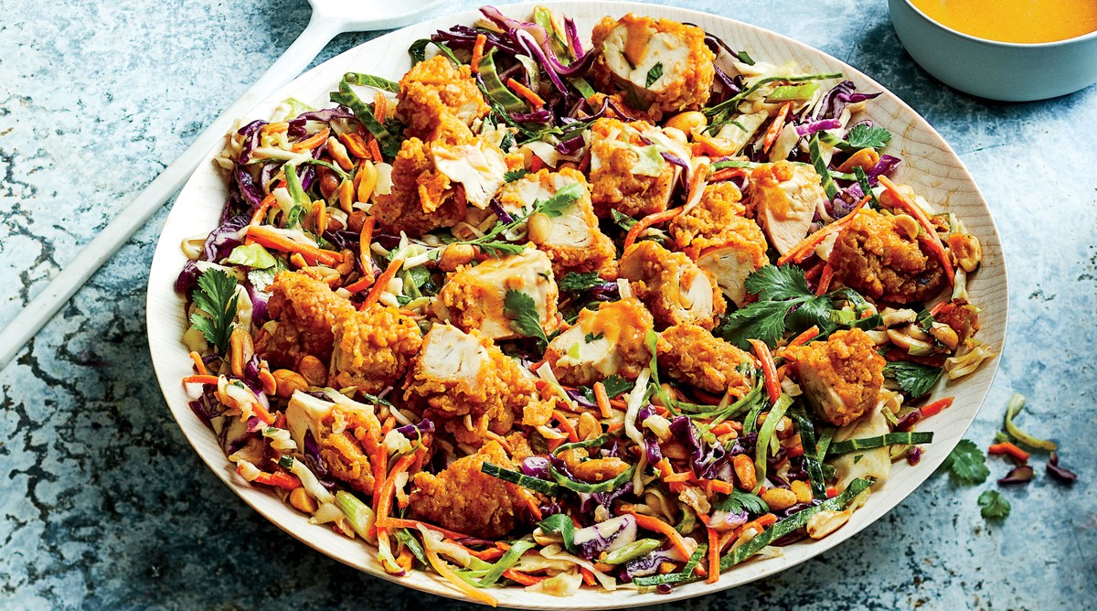 Crunchy Chicken-Peanut Chopped Salad