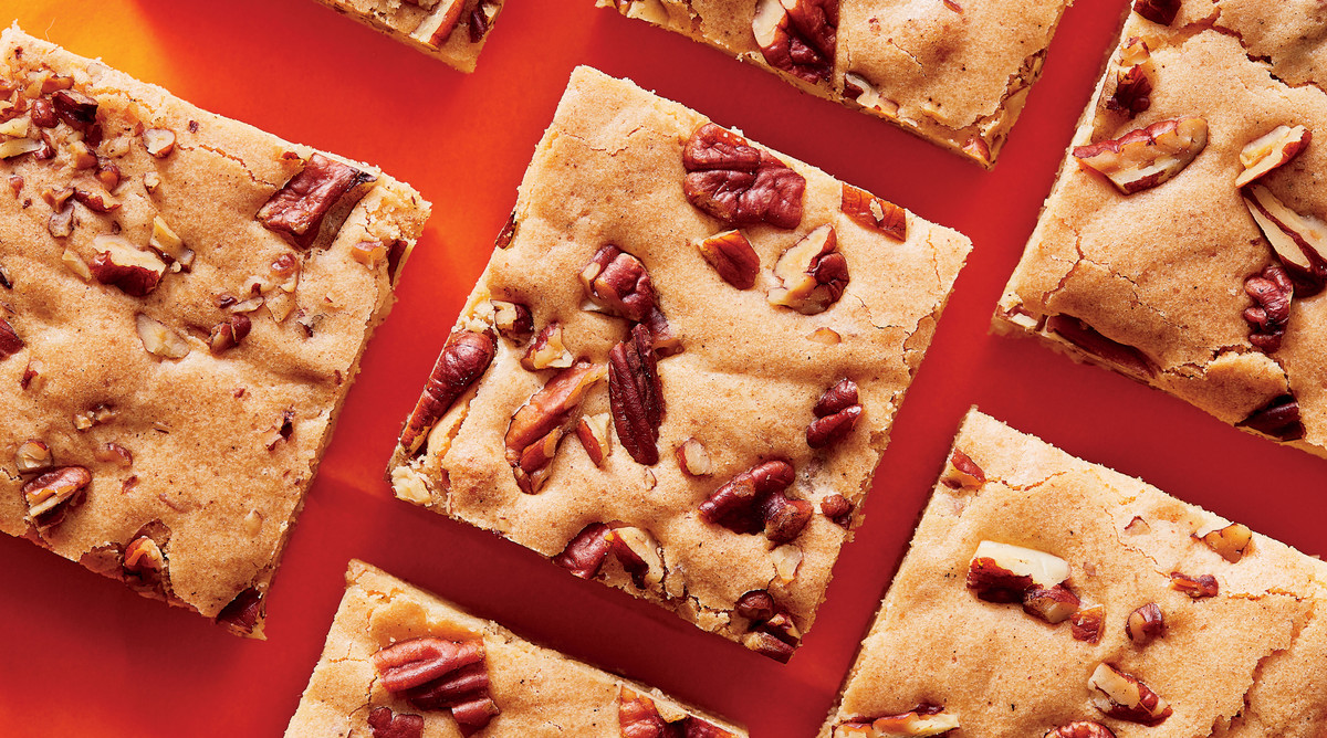 Brown Butter-Maple-Pecan Blondies