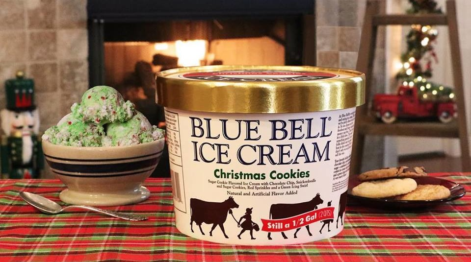 Blue Bell Christmas Cookie Ice Cream