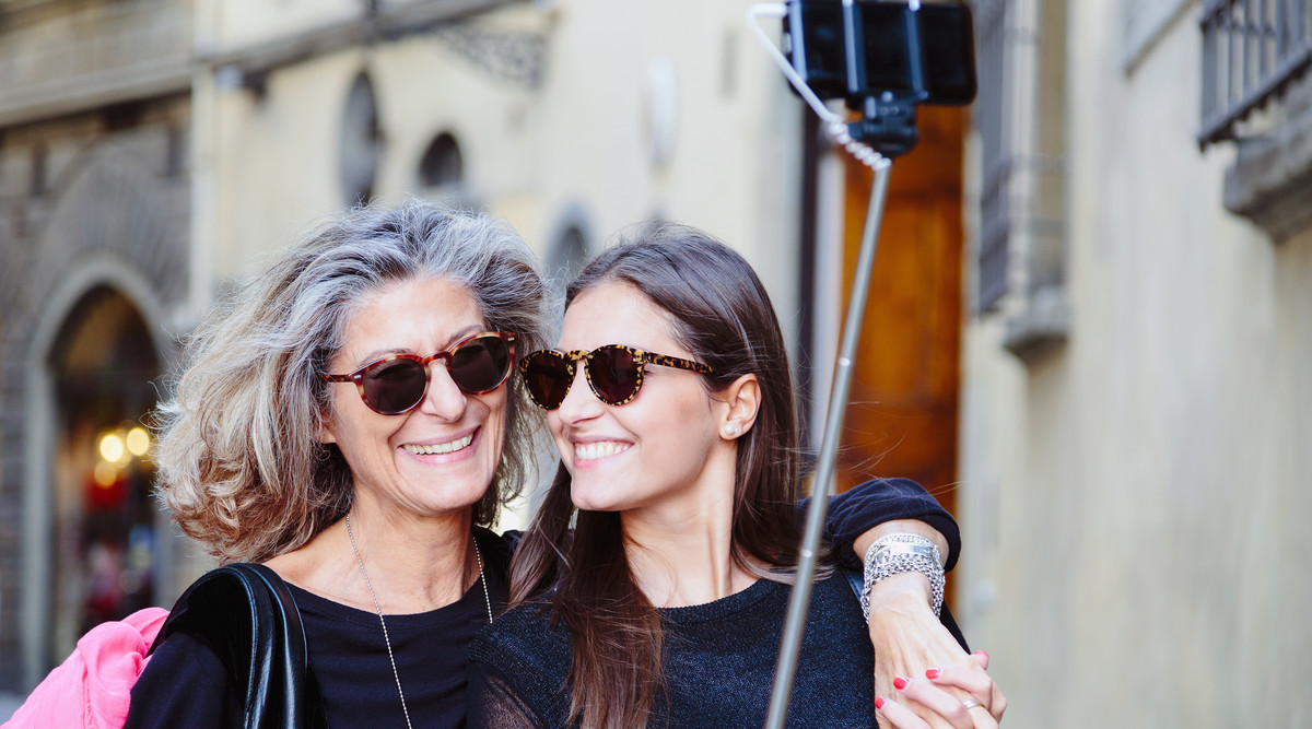 Mother Daughter Traveling Together