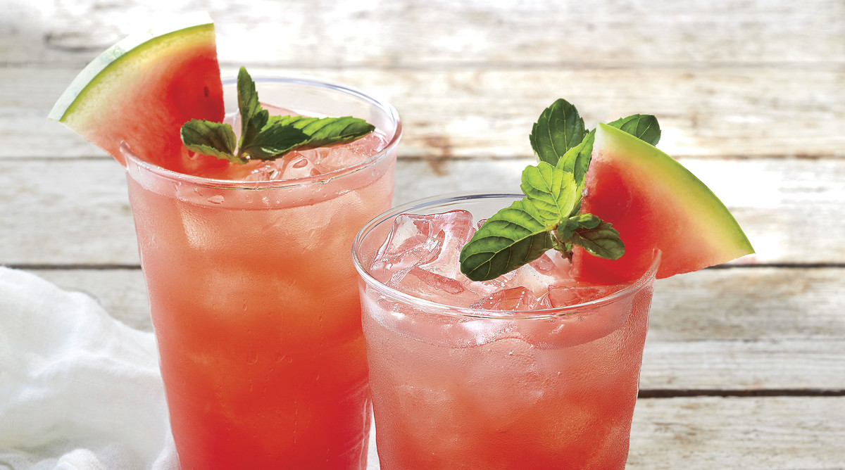 Watermelon-Ginger Mojitos