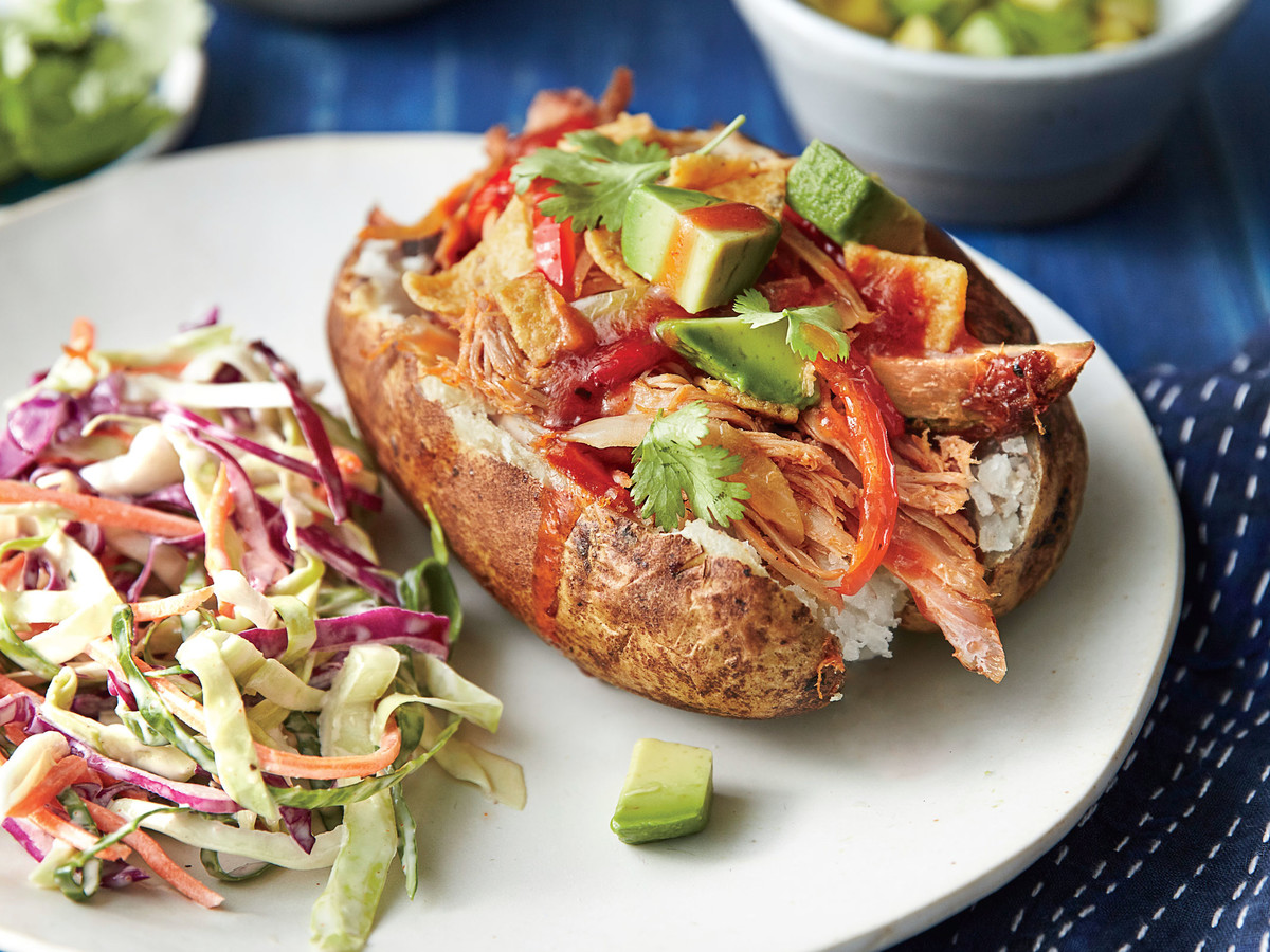 BBQ Pork Loaded Baked Potatoes image