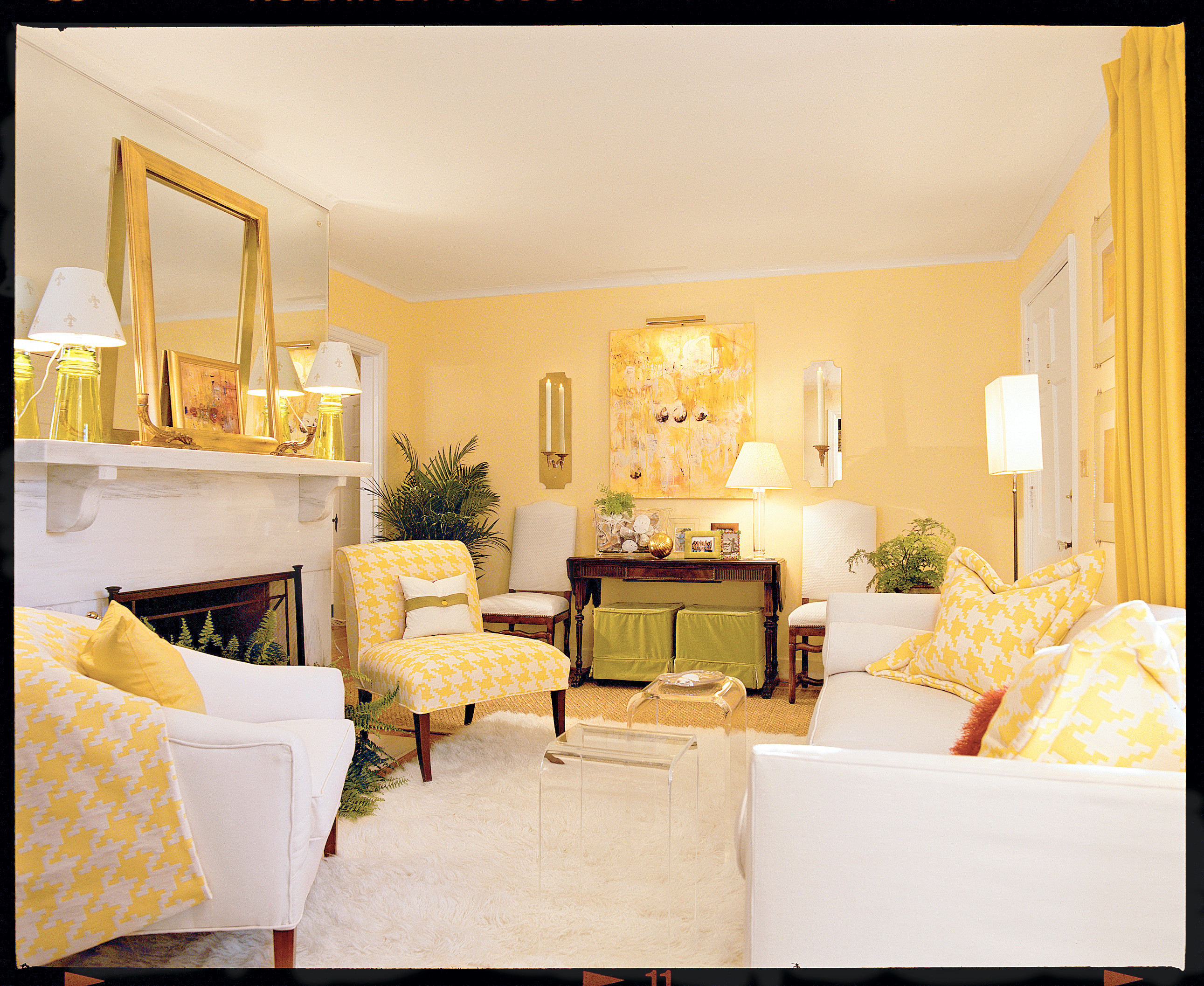 Yellow Living Rooms Cheery Yellow Living Room Southern Living