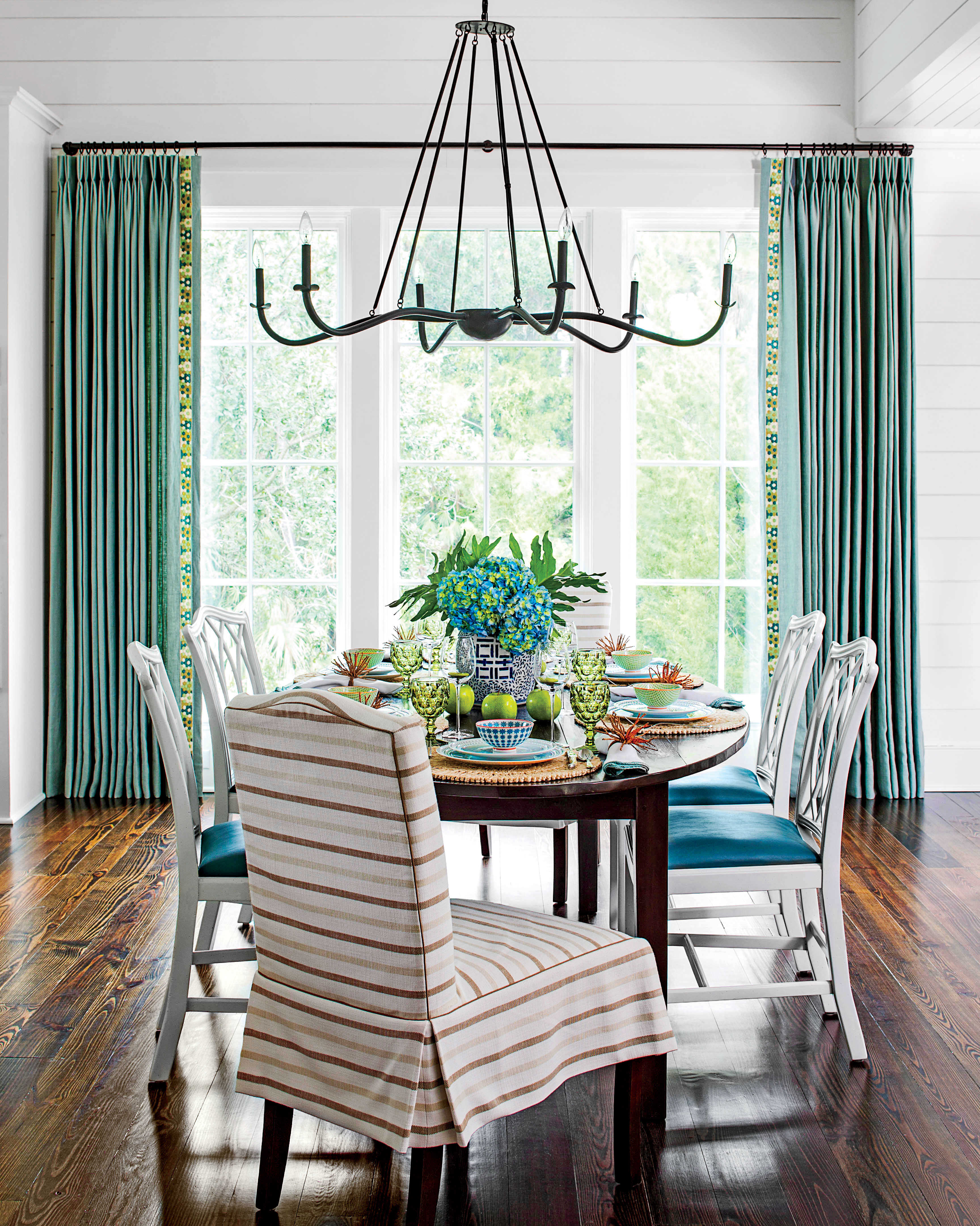 Green country dining table - Green Country Dining Table 18