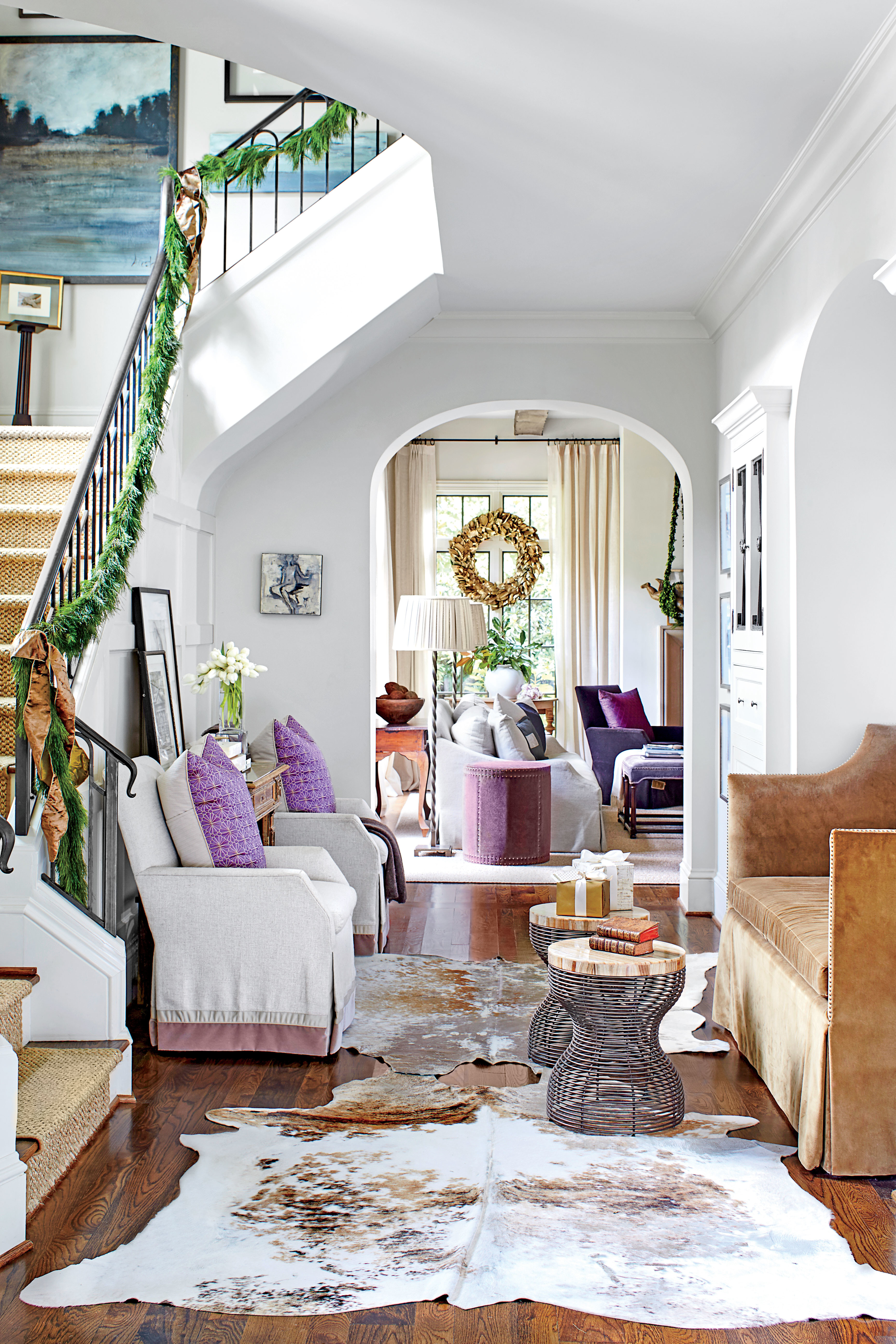 This southern designer's house is a winter wonderland   southern ...