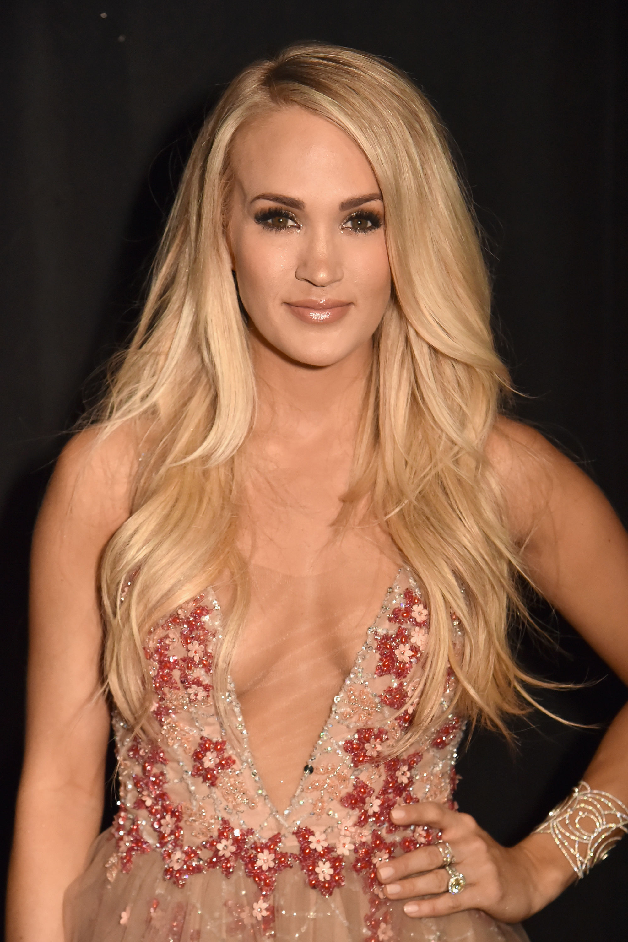 Carrie Underwood Debuts Her Baby Bump for the First Time in a Sparkly Gown