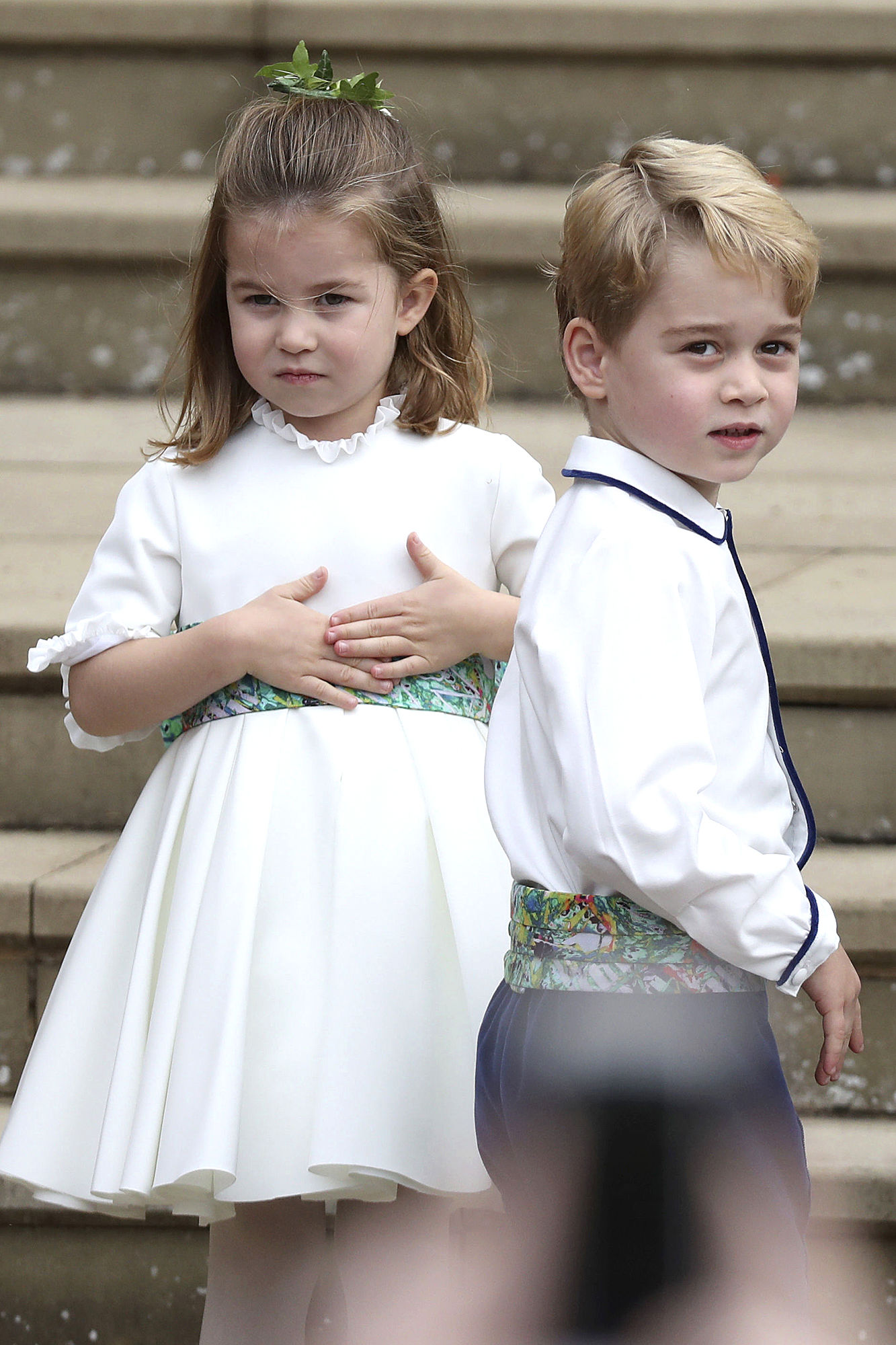 Prince George and Princess Charlotte Are Bridal Party Pros at Princess Eugenie's Wedding!