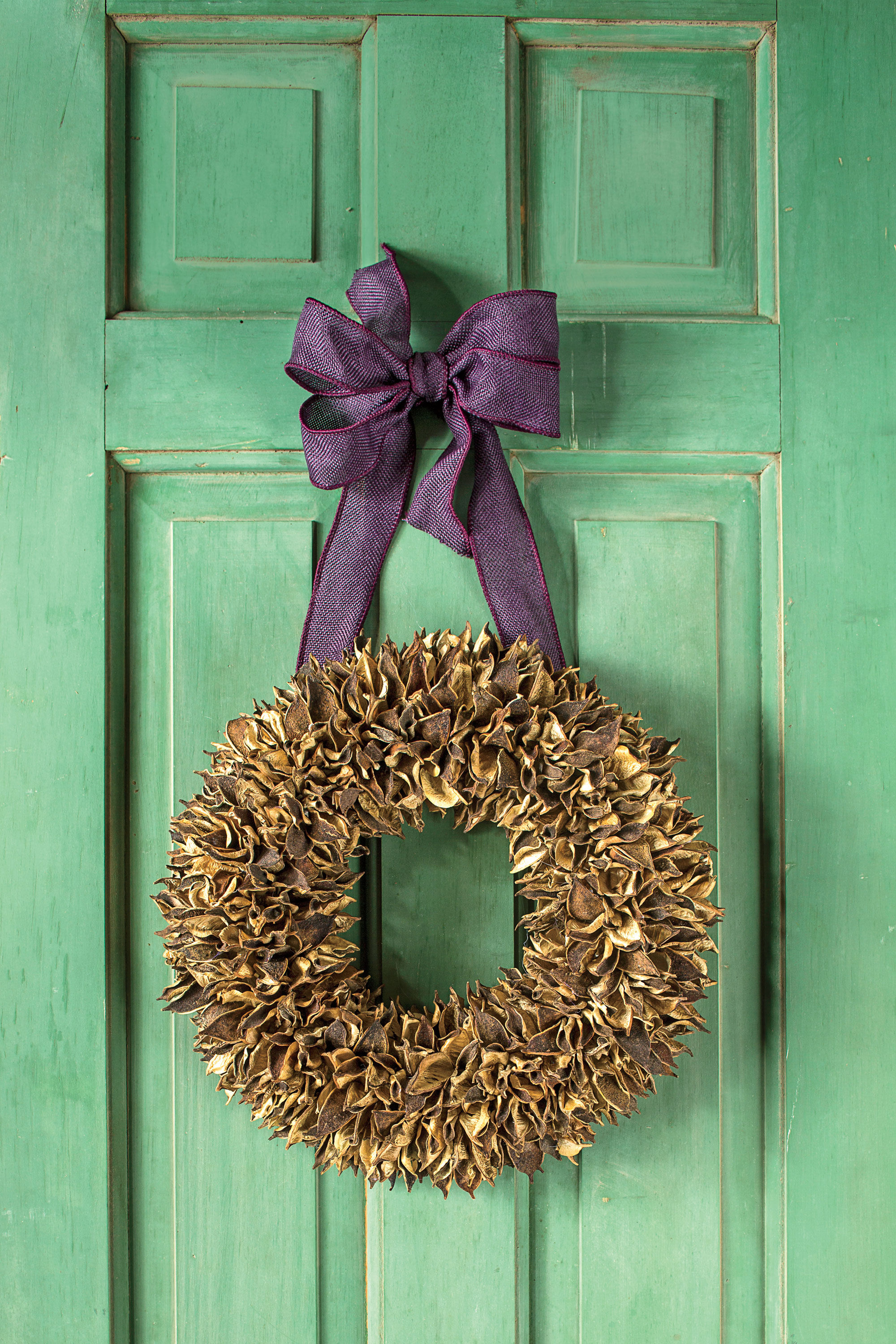 Make A Fall Wreath With Cotton Burs