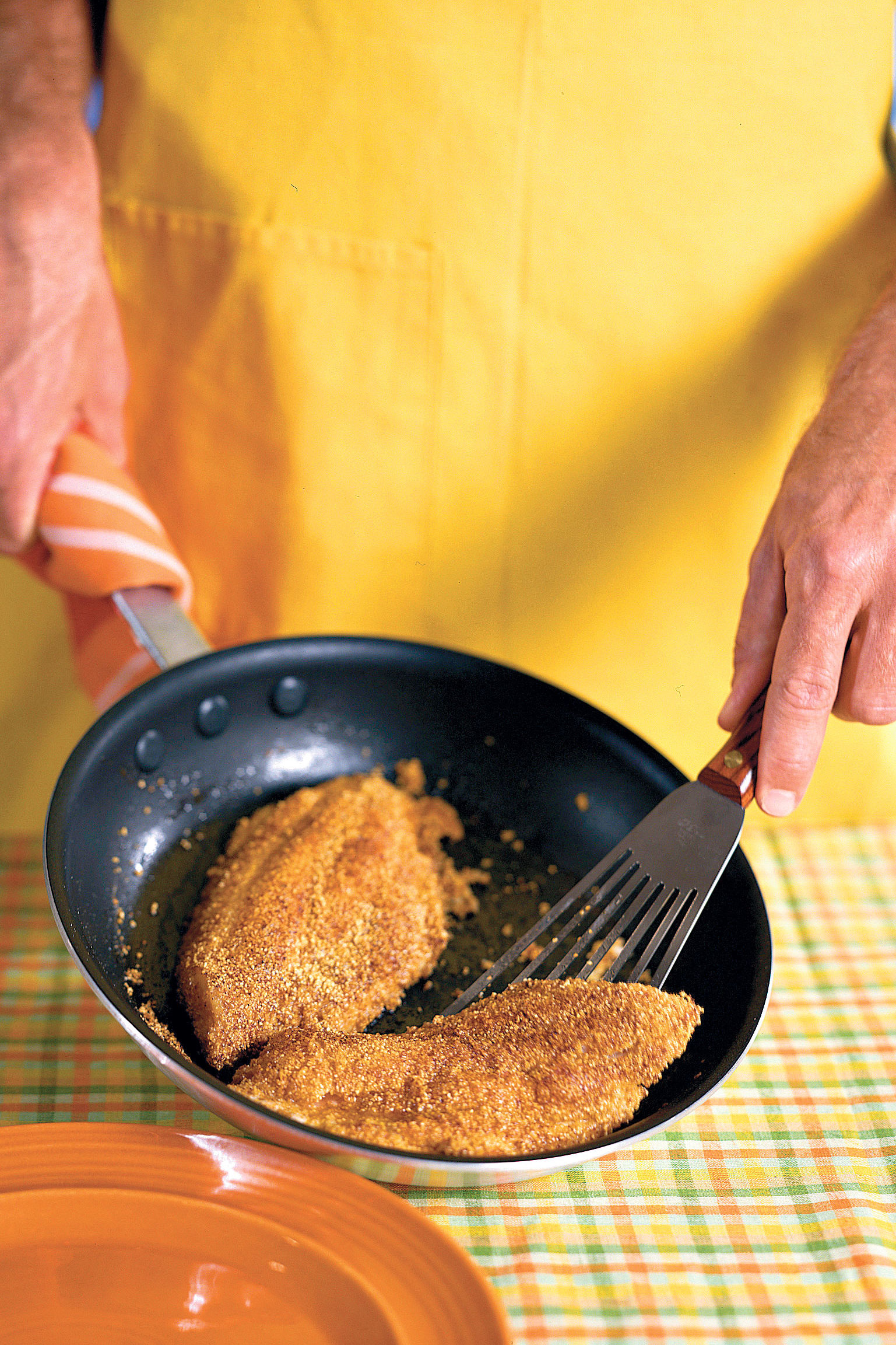 Low-Fat Fried Fish