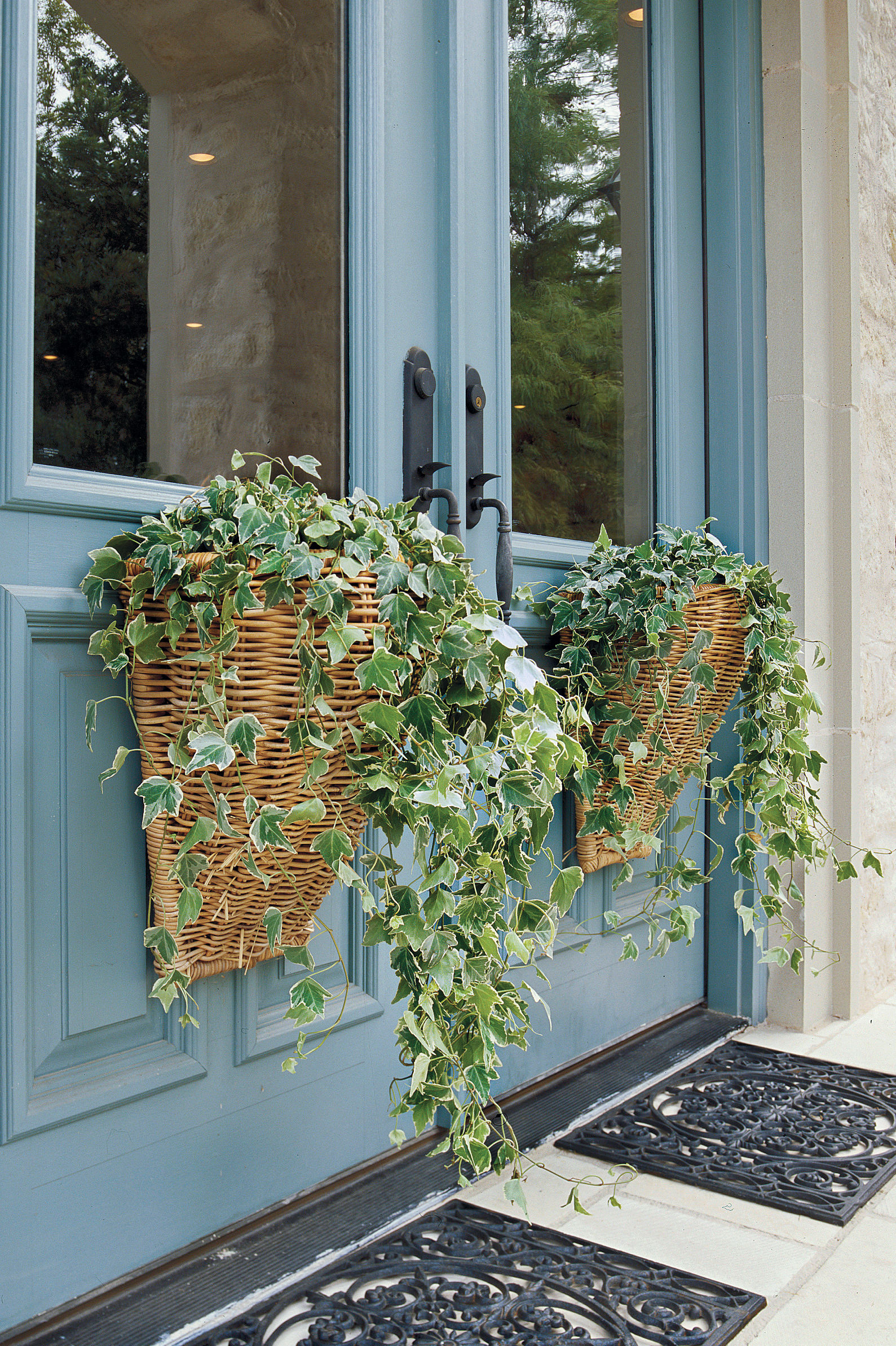 Spruce Up Your Door With Spring Baskets