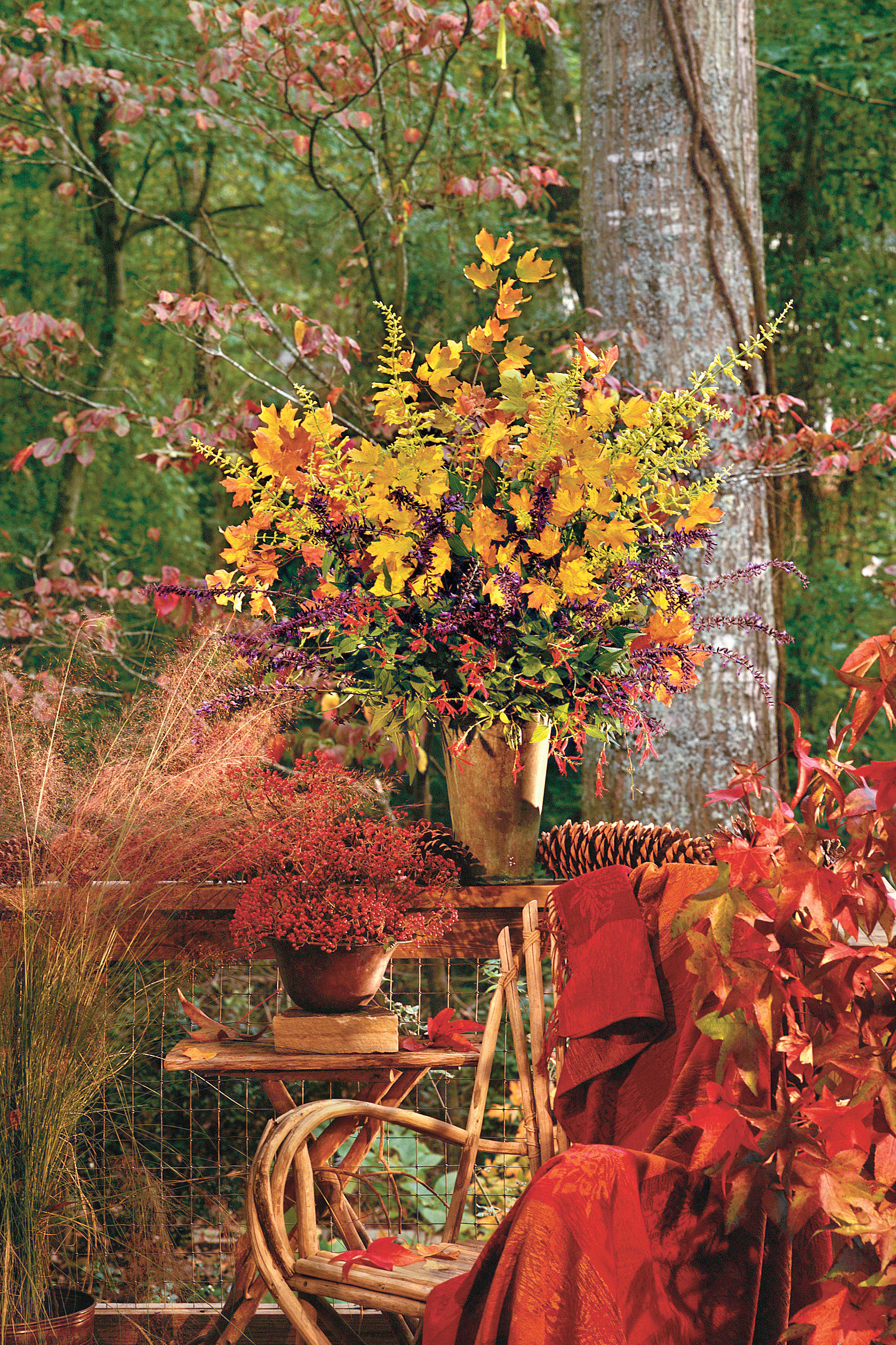 Cut-and-Stick Arrangements for Autumn
