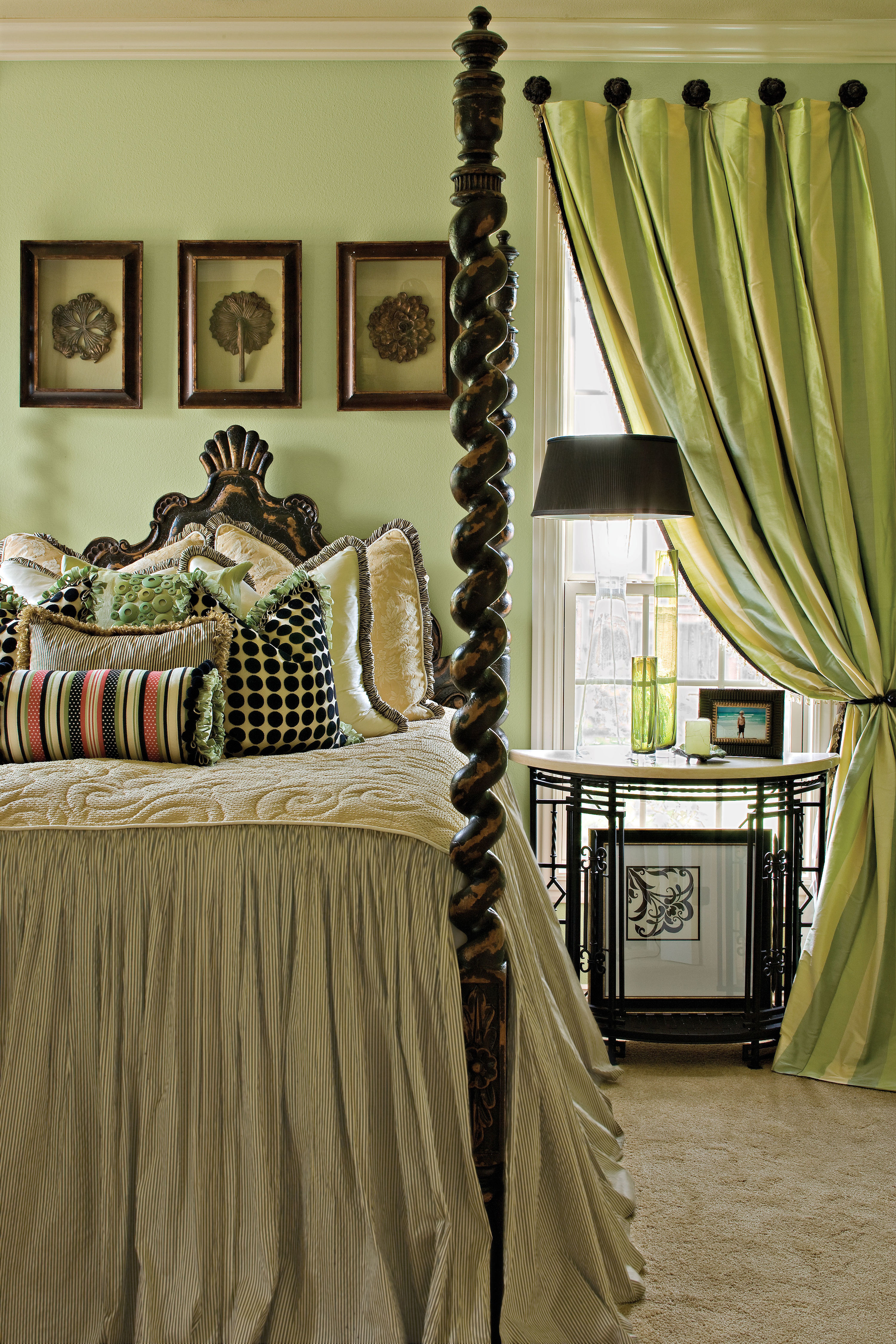 Master Suite in Shades of Green
