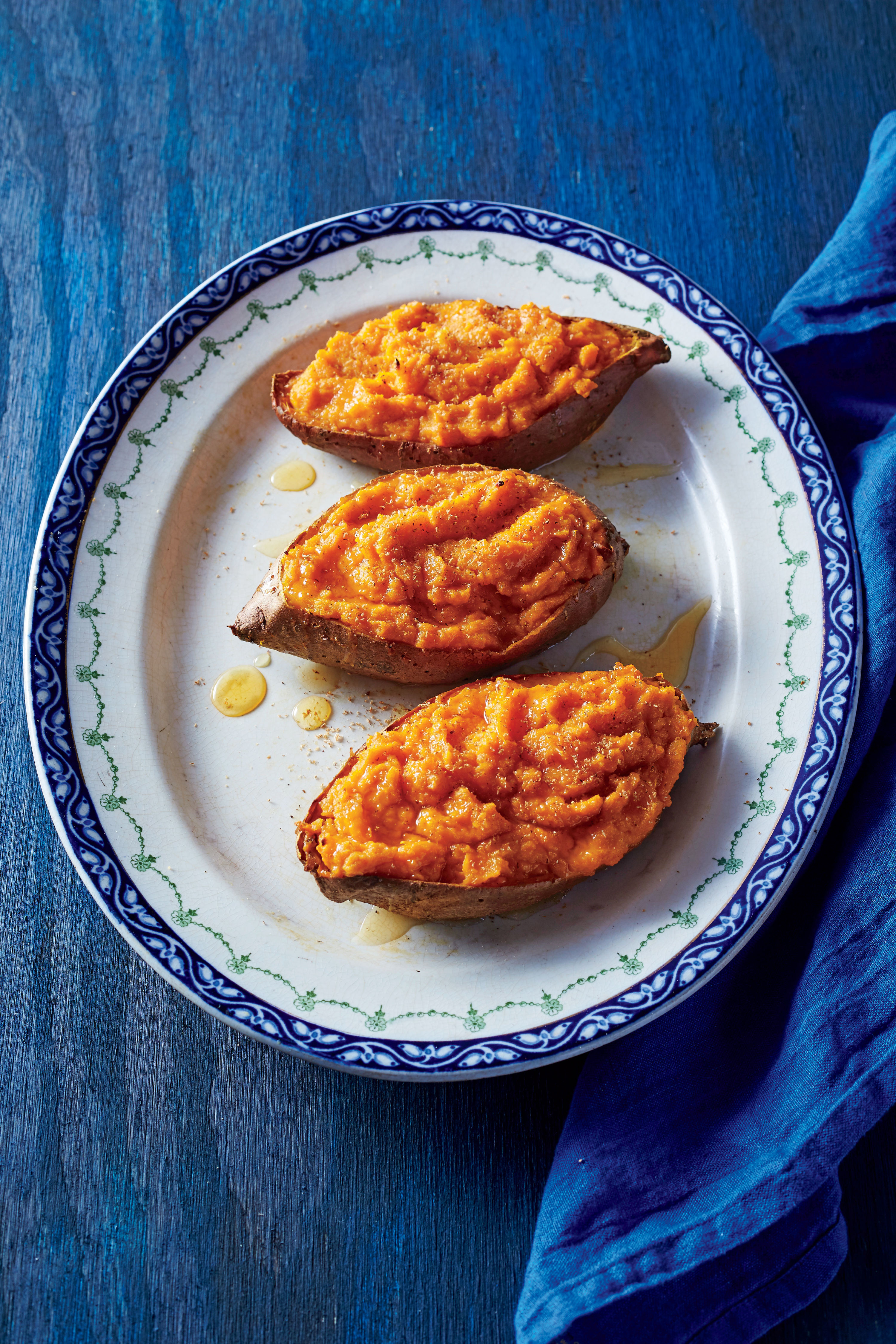 Twice-Cooked Sweet Potatoes with Citrus and Honey Recipe