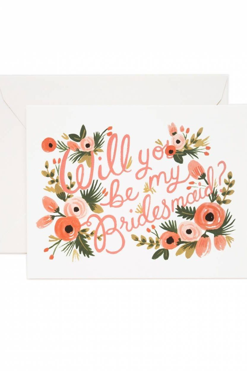 Whats Written Inside That Cute Little Bridesmaid Card Is A
