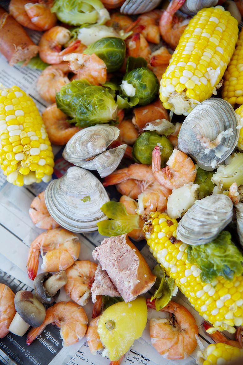 A Lowcountry Boil with Surprising Ingredients