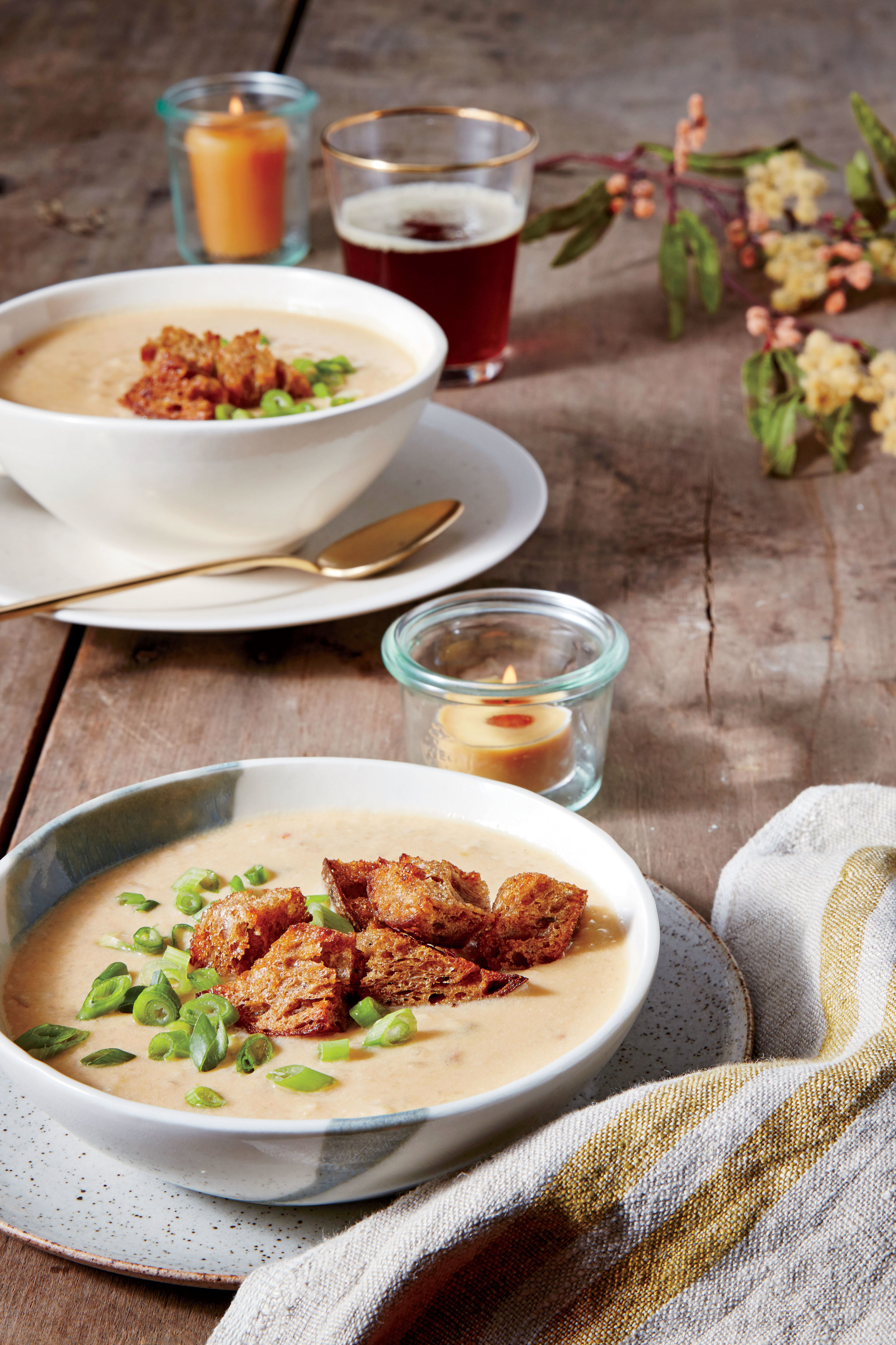 Cheesy Grits-and-Ale Soup Recipe