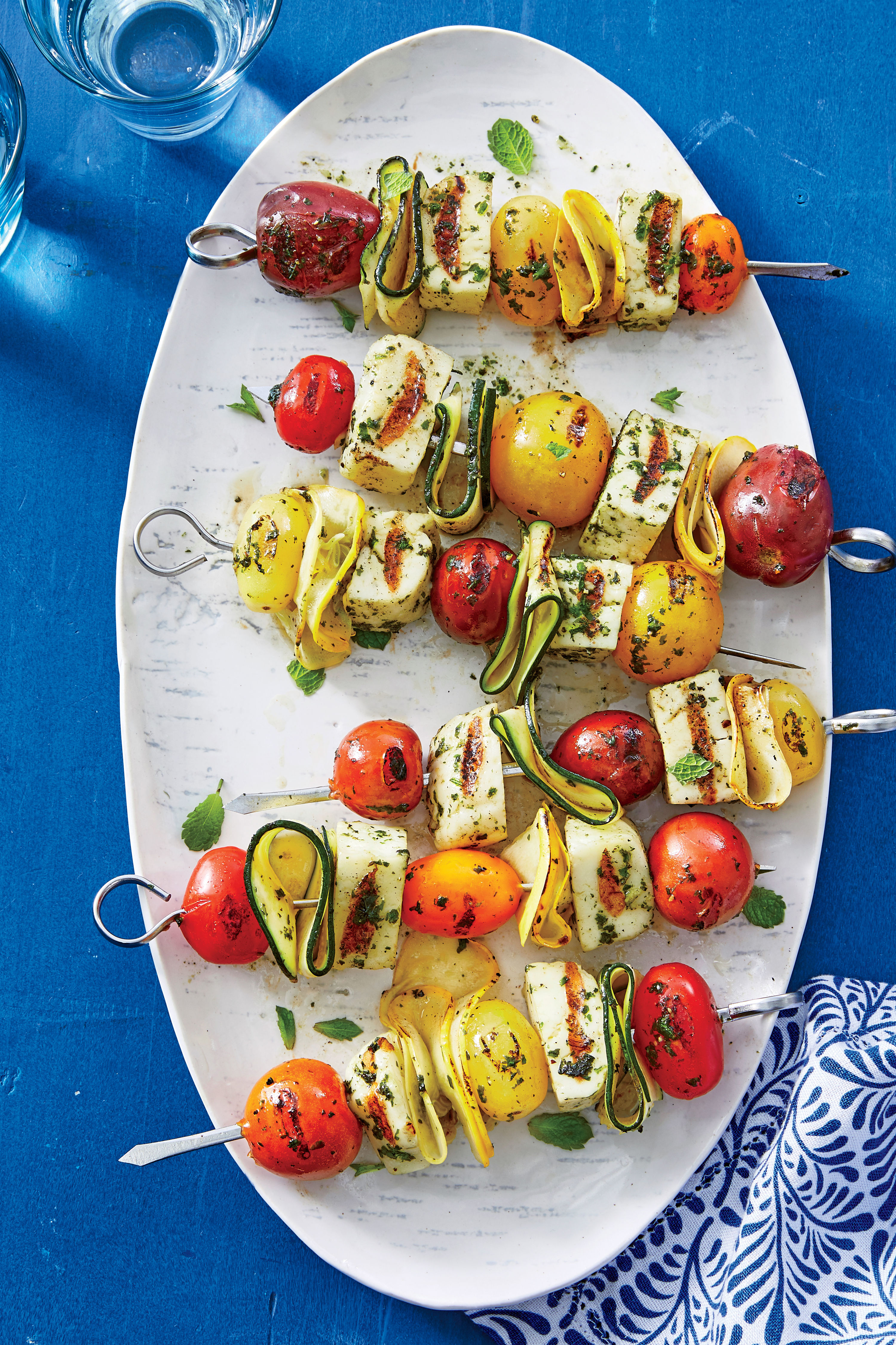 Halloumi-and-Summer Vegetable Kebabs Recipe
