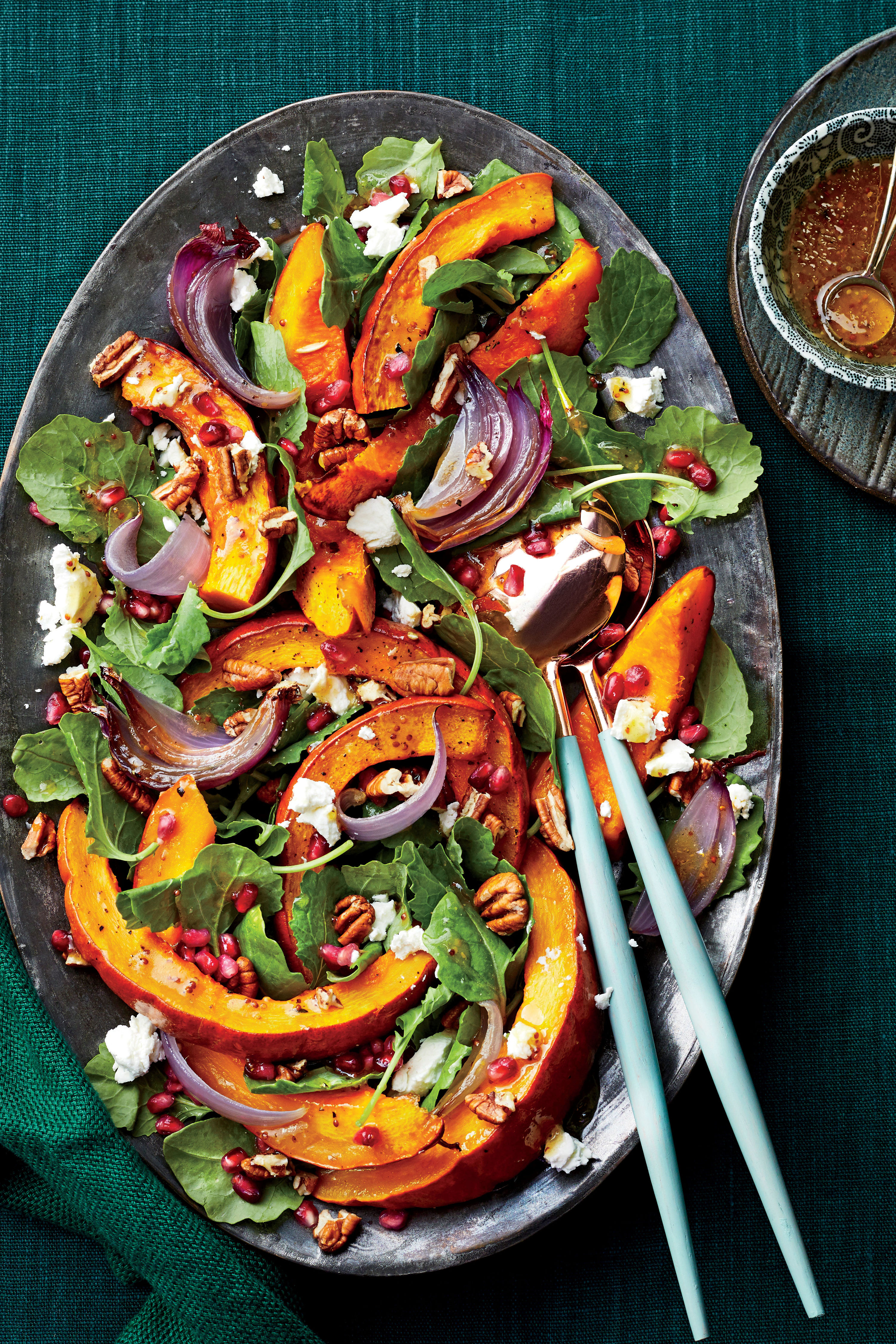 Roasted Pumpkin-and-Baby Kale Salad Recipe