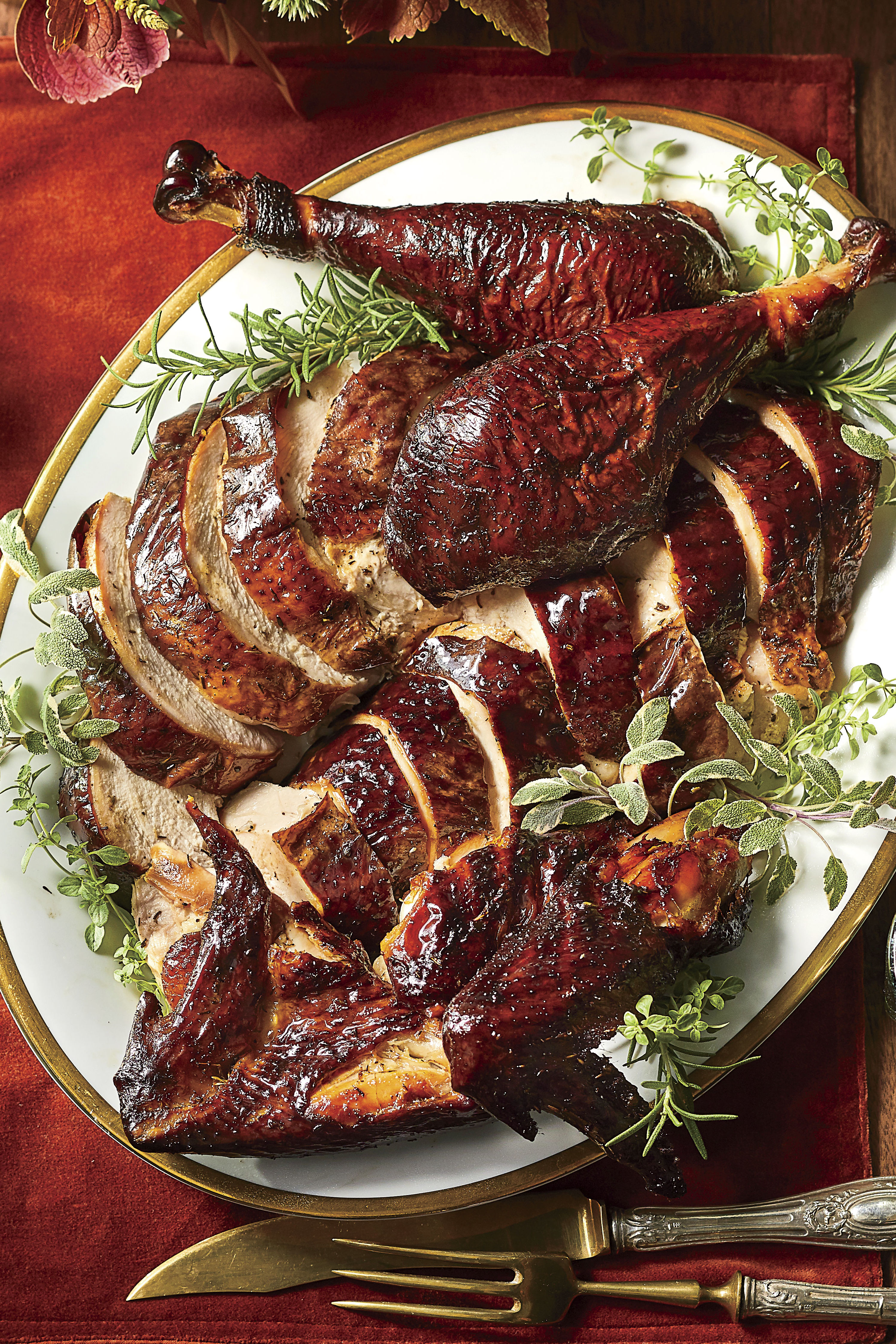 Smoked Turkey Recipe with Herb Rub
