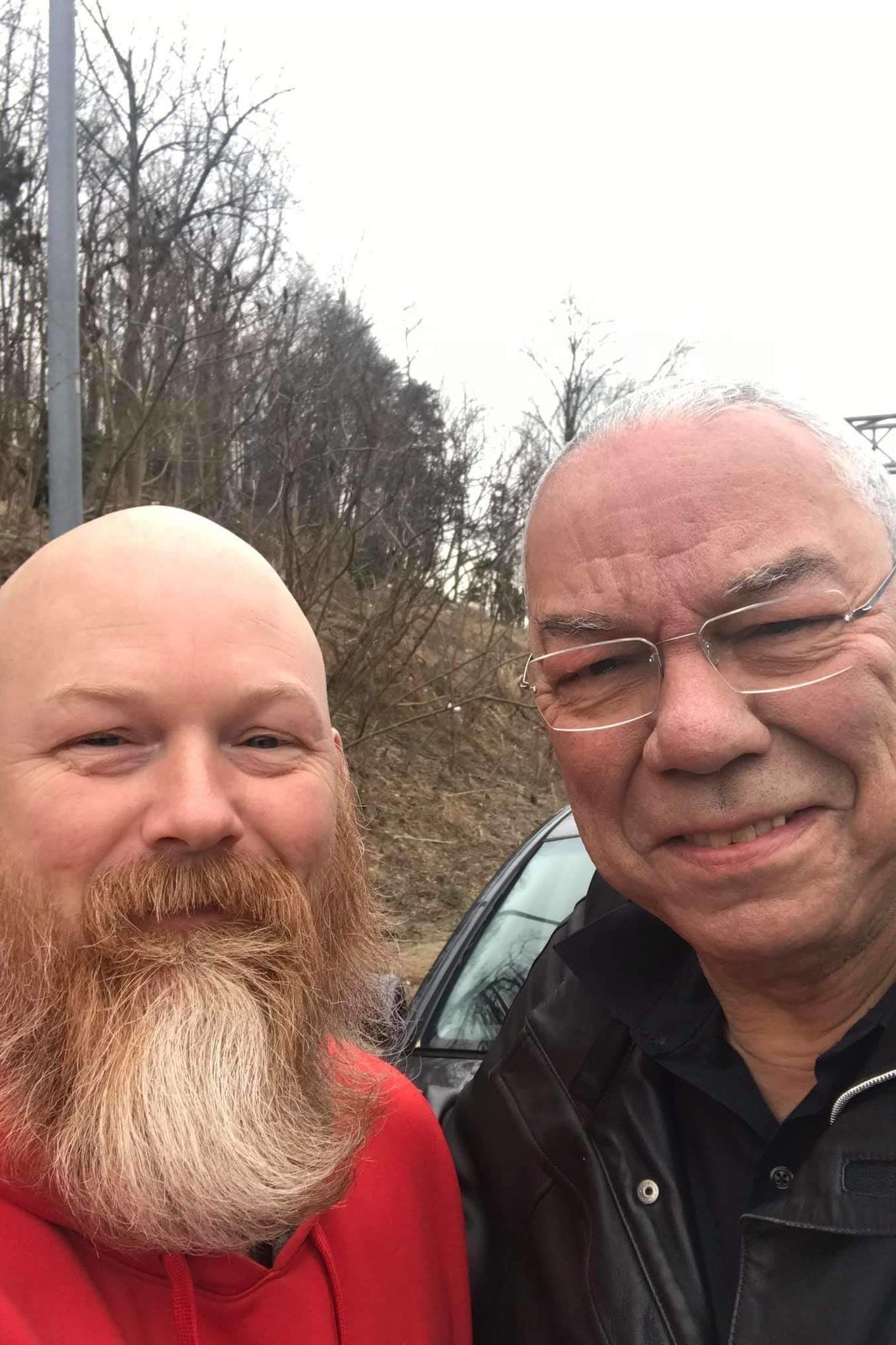 Disabled Veteran Pulls Over to Help Stranded Motorist, Colin Powell