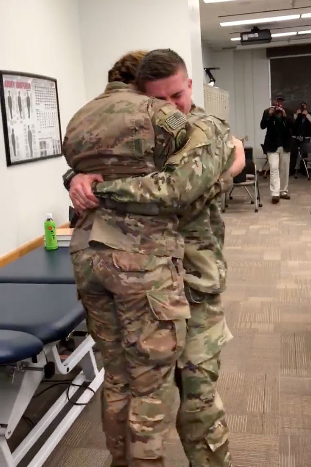 Army Couple's Tear-Jerking Surprise Reunion Caught on Tape