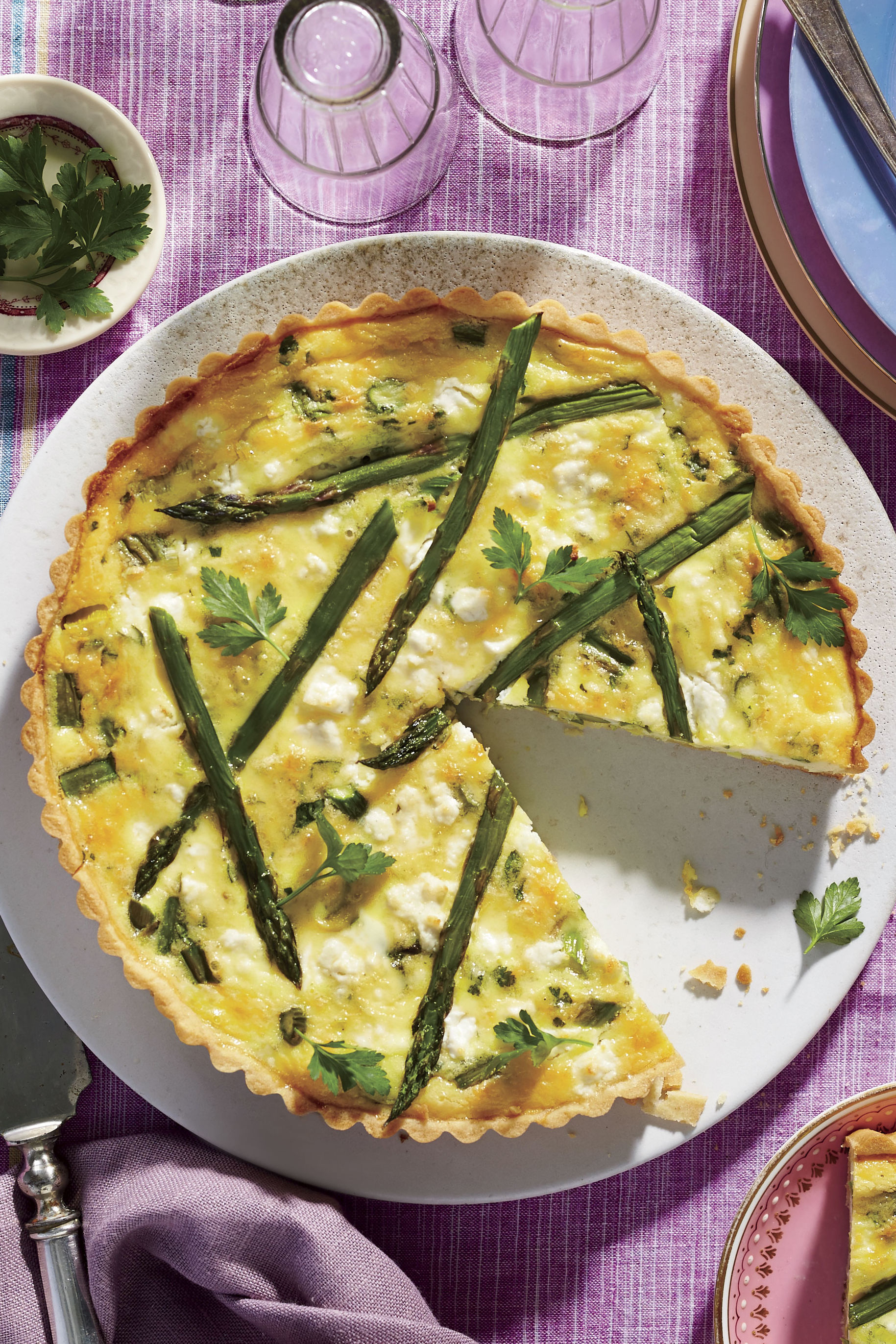 Asparagus-and-Goat Cheese Quiche Recipe