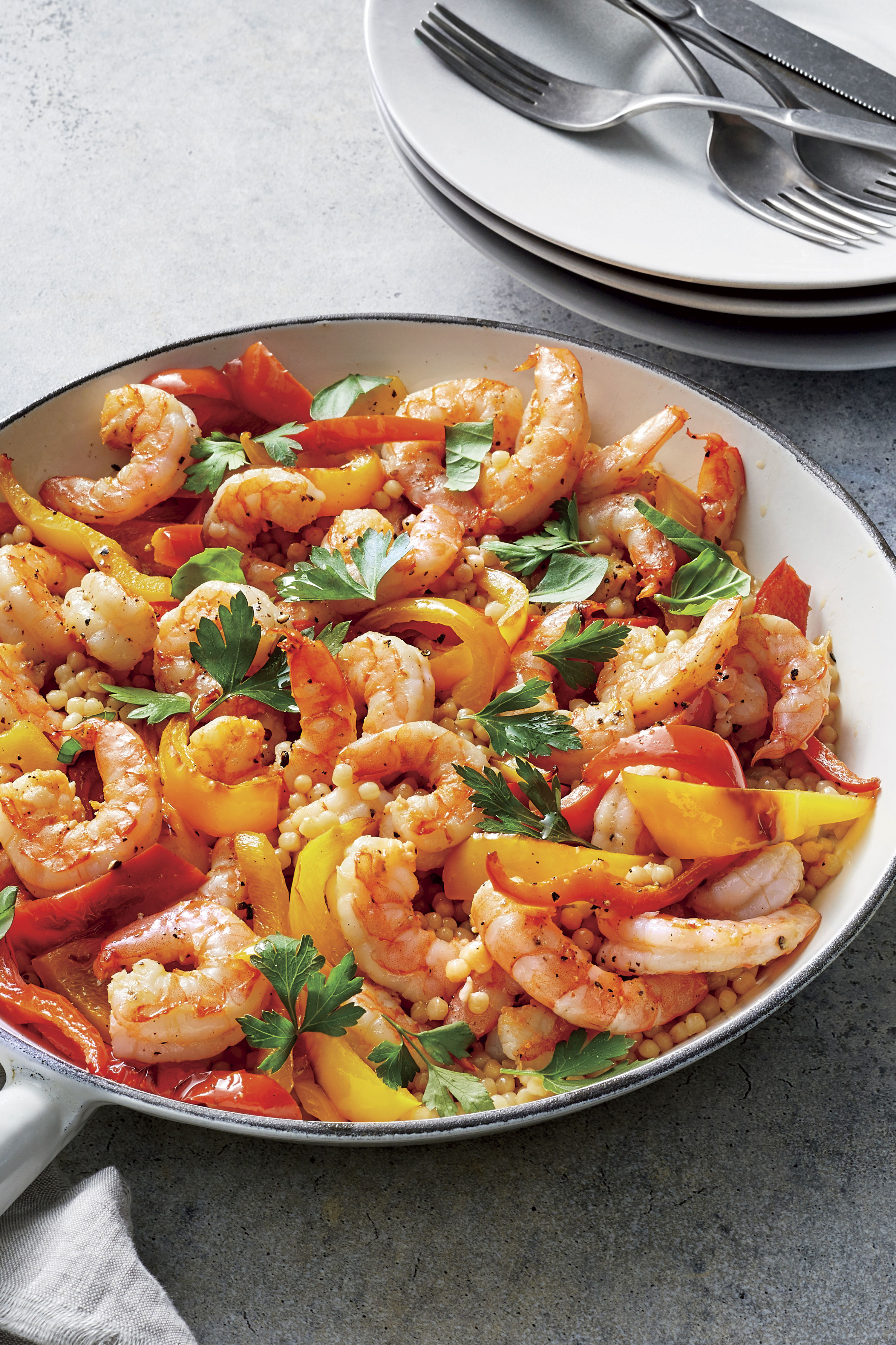 Israeli Couscous and Shrimp Recipe