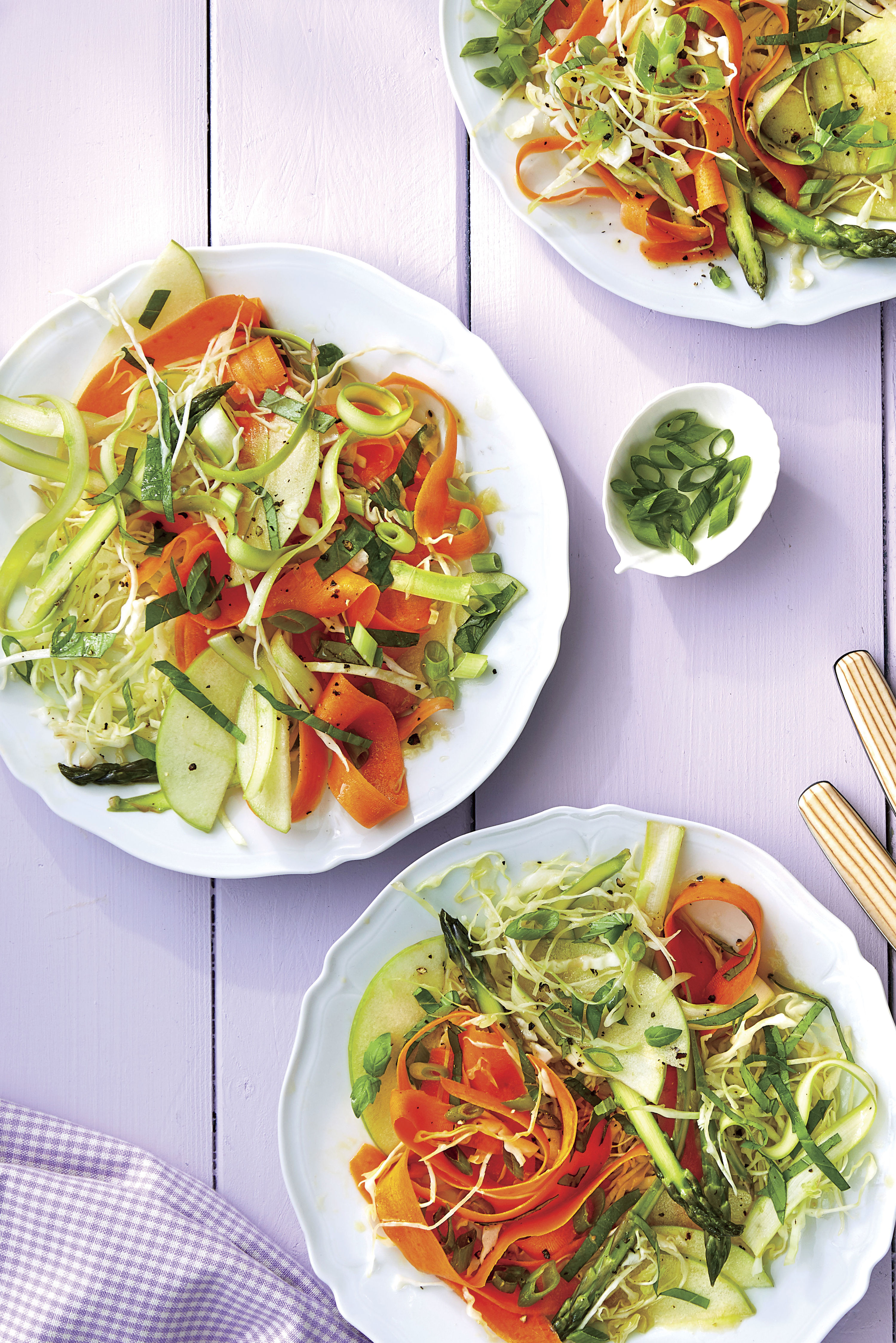Shaved Carrot, Asparagus, and Apple Salad Recipe