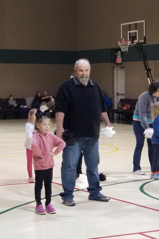 Papaw with Pom-Poms Dances with Nervous Granddaughter, Steals Our Hearts