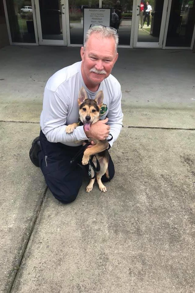 WATCH: North Charleston Firefighter Adopts Puppy He Pulled from Pile of Rocks