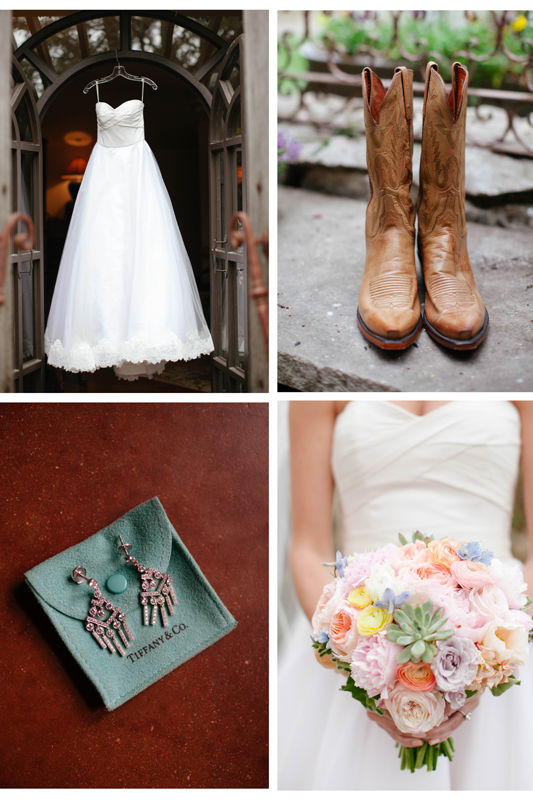 Wedding Dress + Cowboy Boots, The Perfect Ensemble For This Texas Bride
