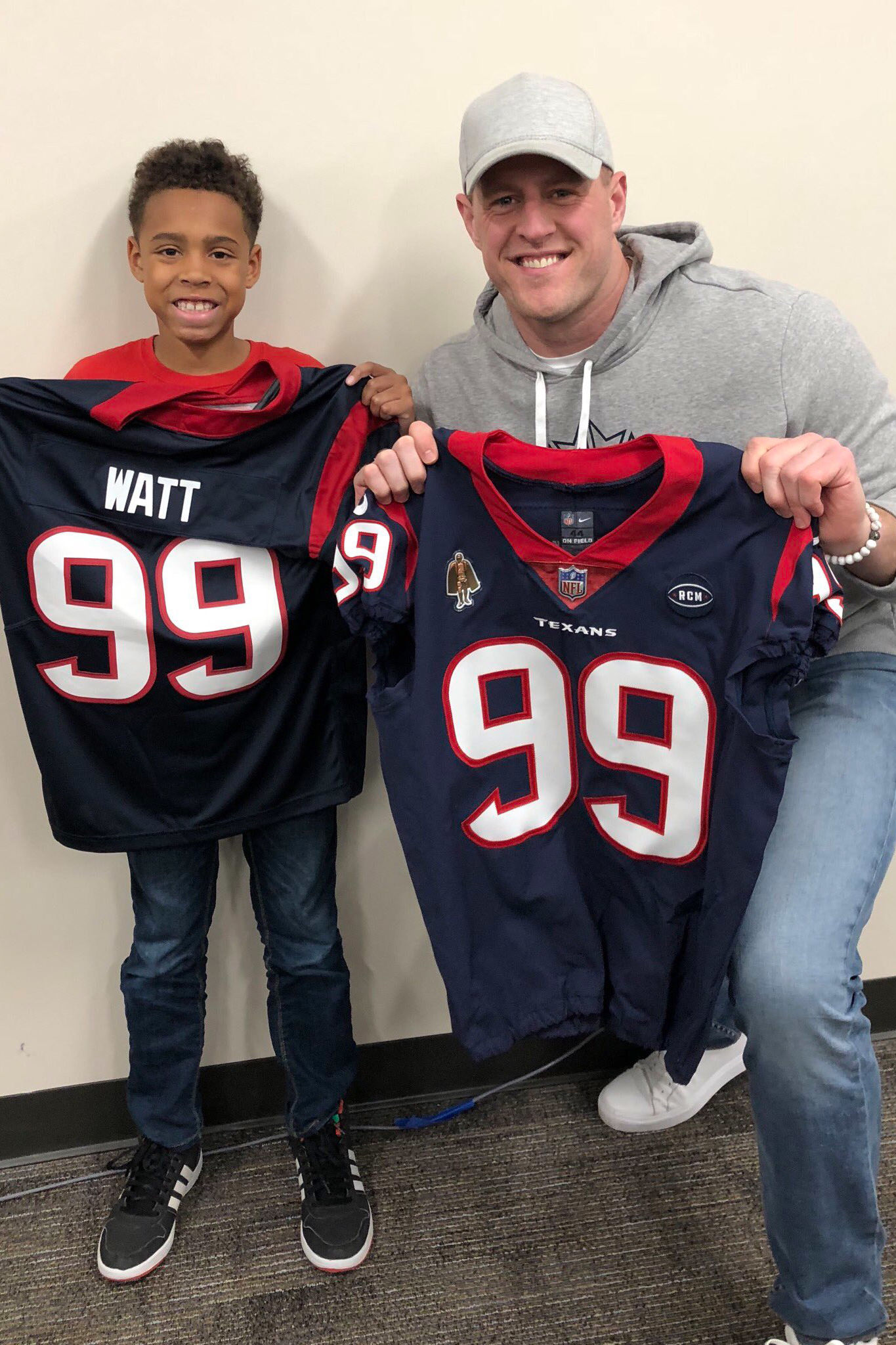 JJ Watt Follows Through on Promise to Give Young Fan His Jersey: 'I Have a New Friend'
