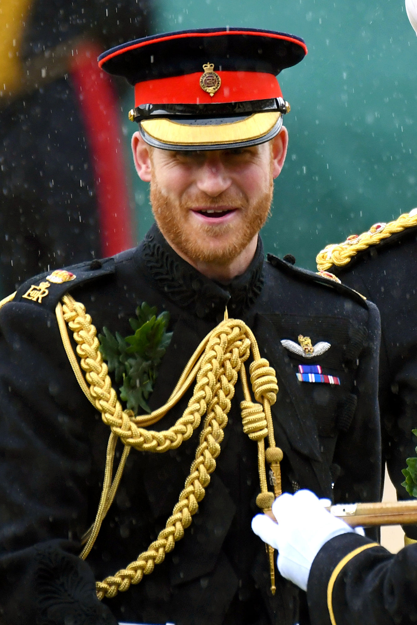 Prince Harry Steps Out in Uniform to Visit Veterans' Retirement Home on D-Day