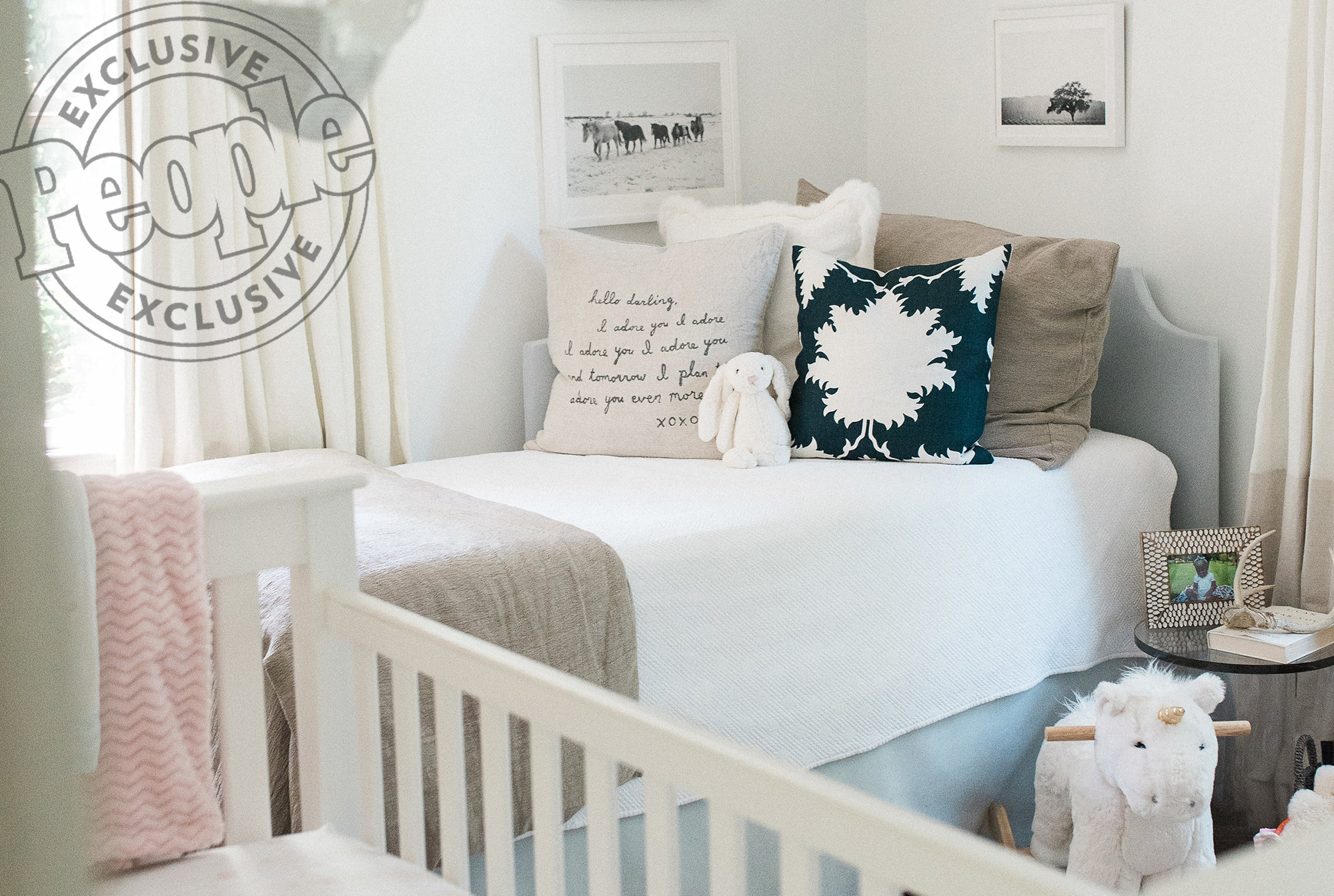 Inside Thomas Rhett and Lauren Akins' Sweet - with 'Not Too Much Pink' - Rooms for Daughters Ada and Willa