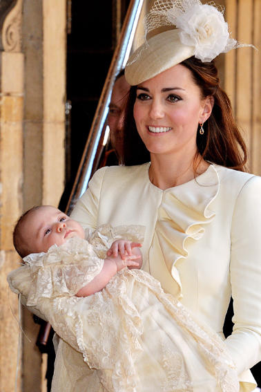 Prince George Arrives at His Christening