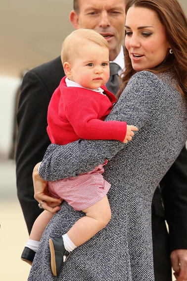 Prince George Is Adorable in Red