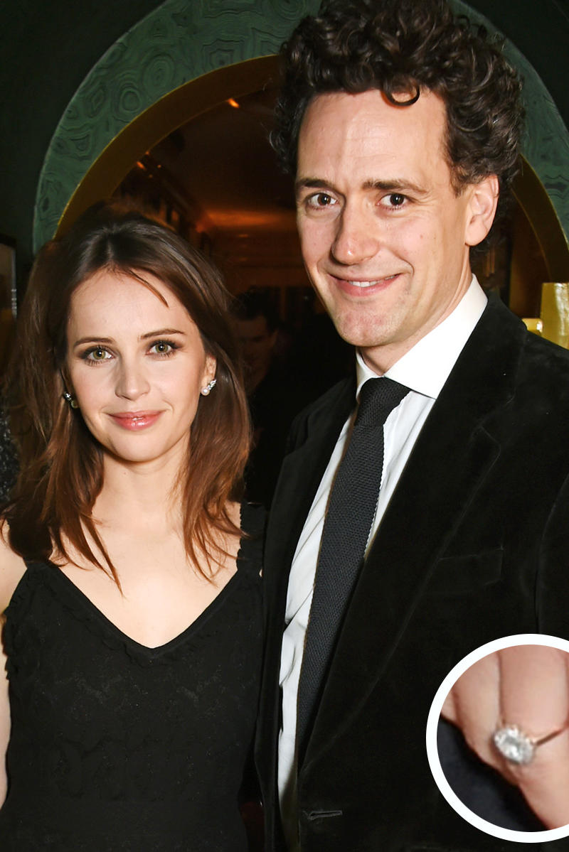 Felicity Jones and Charles Guard