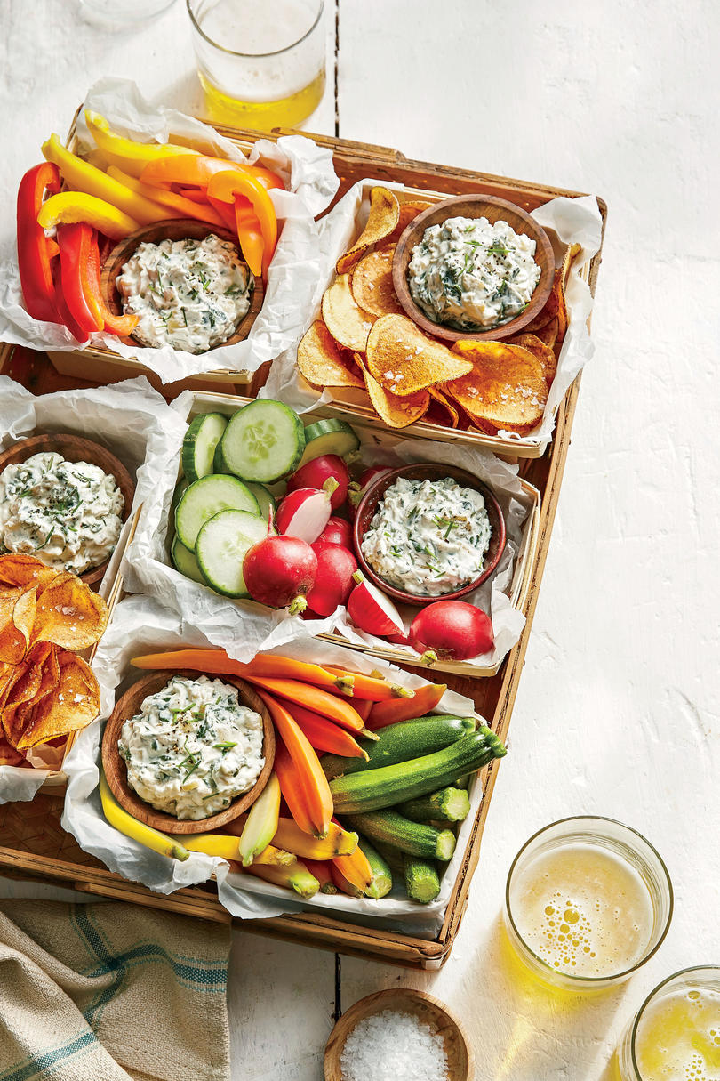 Buffet appetizers. Ideas for filing and decorating 70