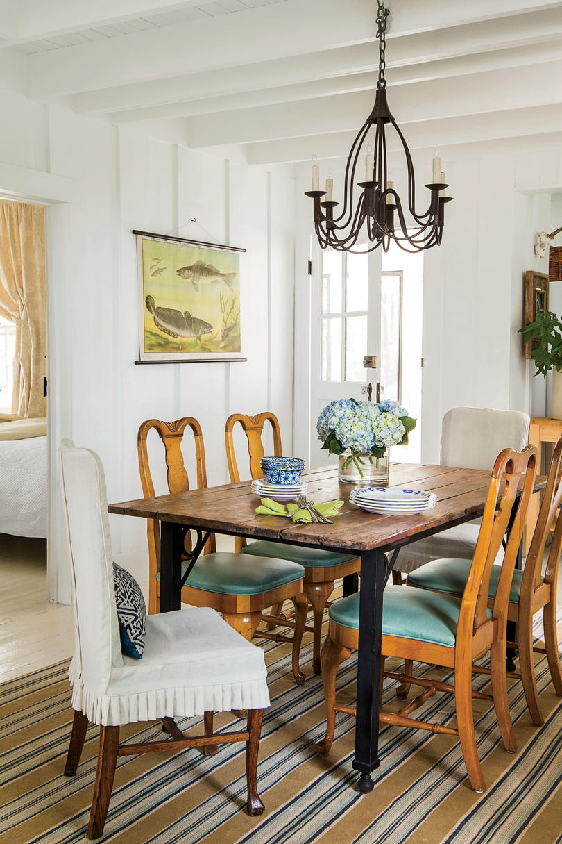 Iron And Wood Dining Room