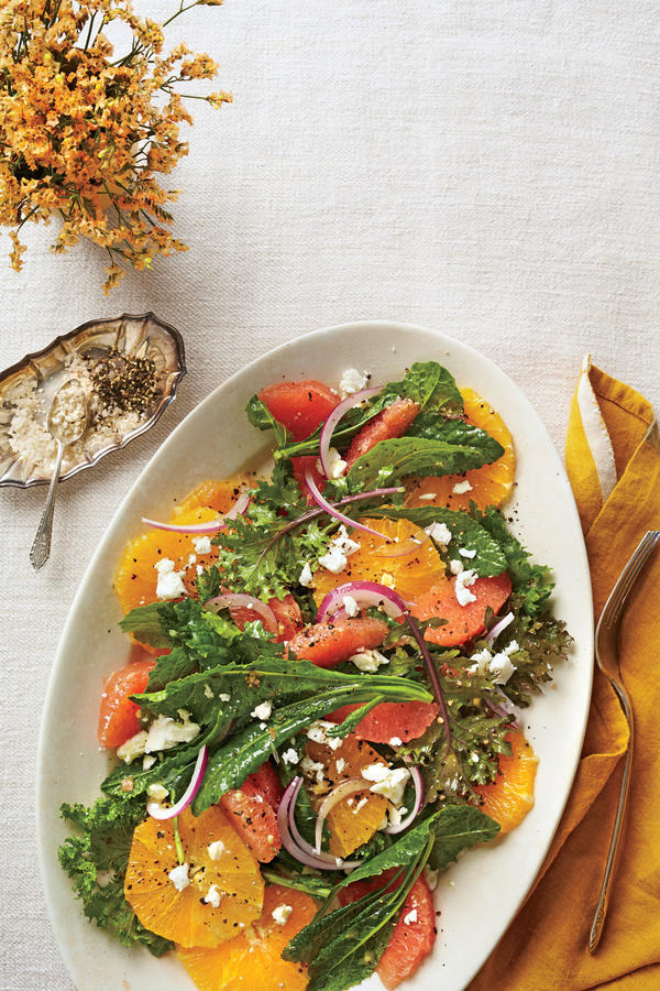 Thanksgiving Salad Citrus Kale