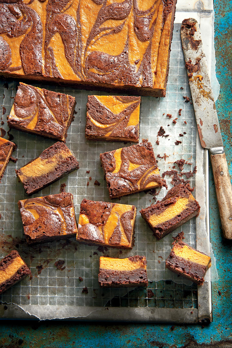 Pumpkin-Chocolate Brownies