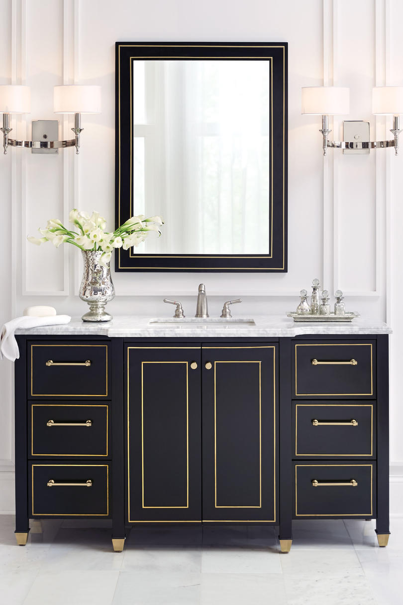 Attractive Black And Gold Vanity