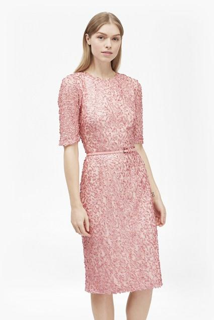 Celia Belted Sequin Mother of the Bride Dress