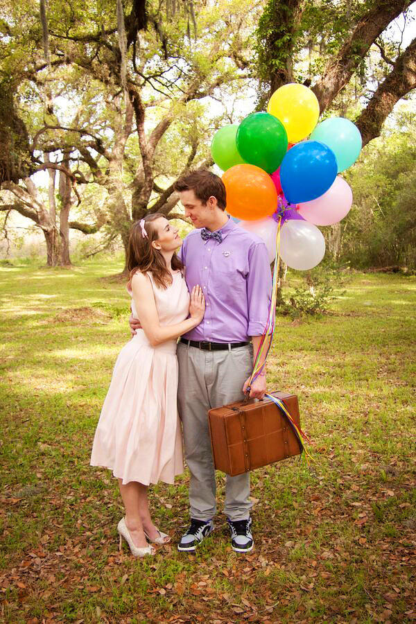 Engagement Photo with Balloons