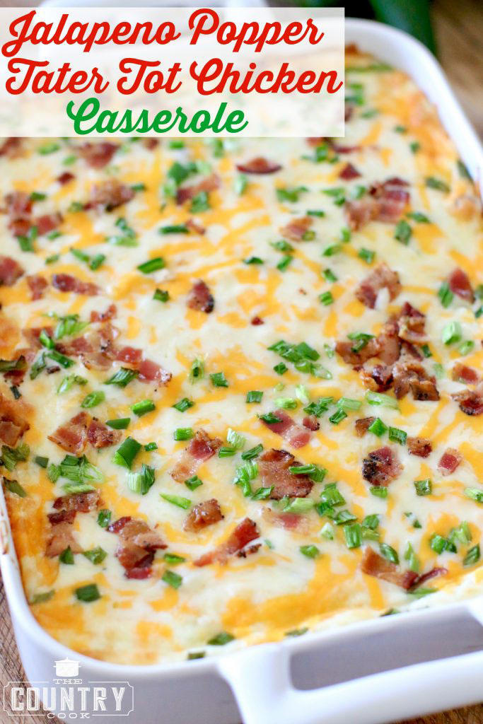 Jalapeño-Popper Chicken Casserole The Country Cook