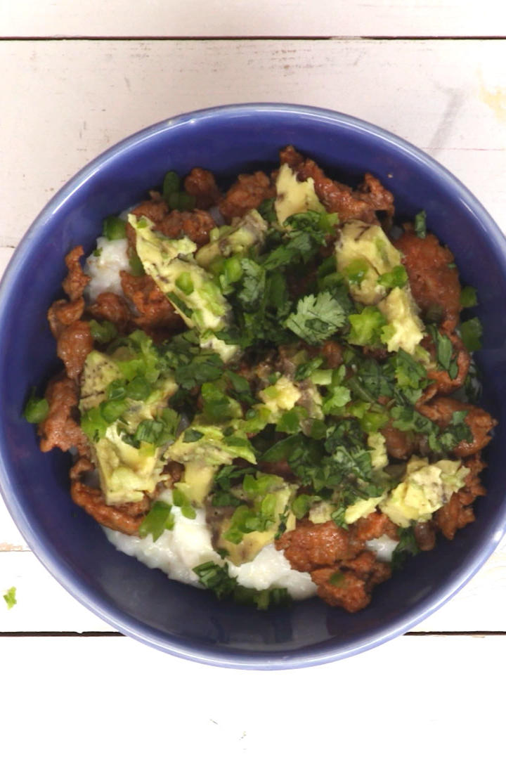 Creamy Mexican Grits With Chorizo